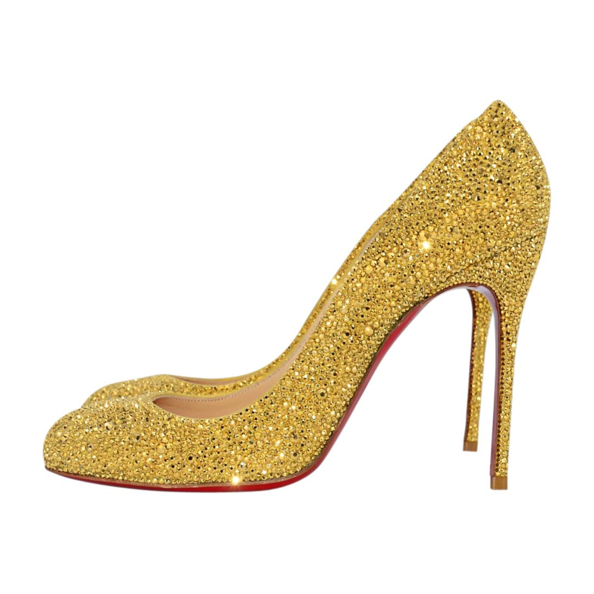 chaussure louboutin dore