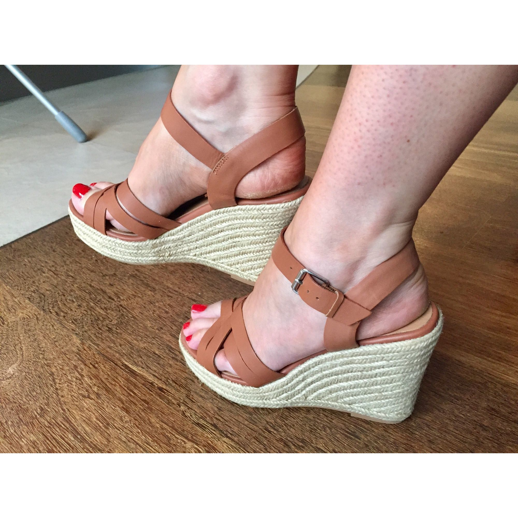 Sandales compensées JONAK 38 beige 7893861