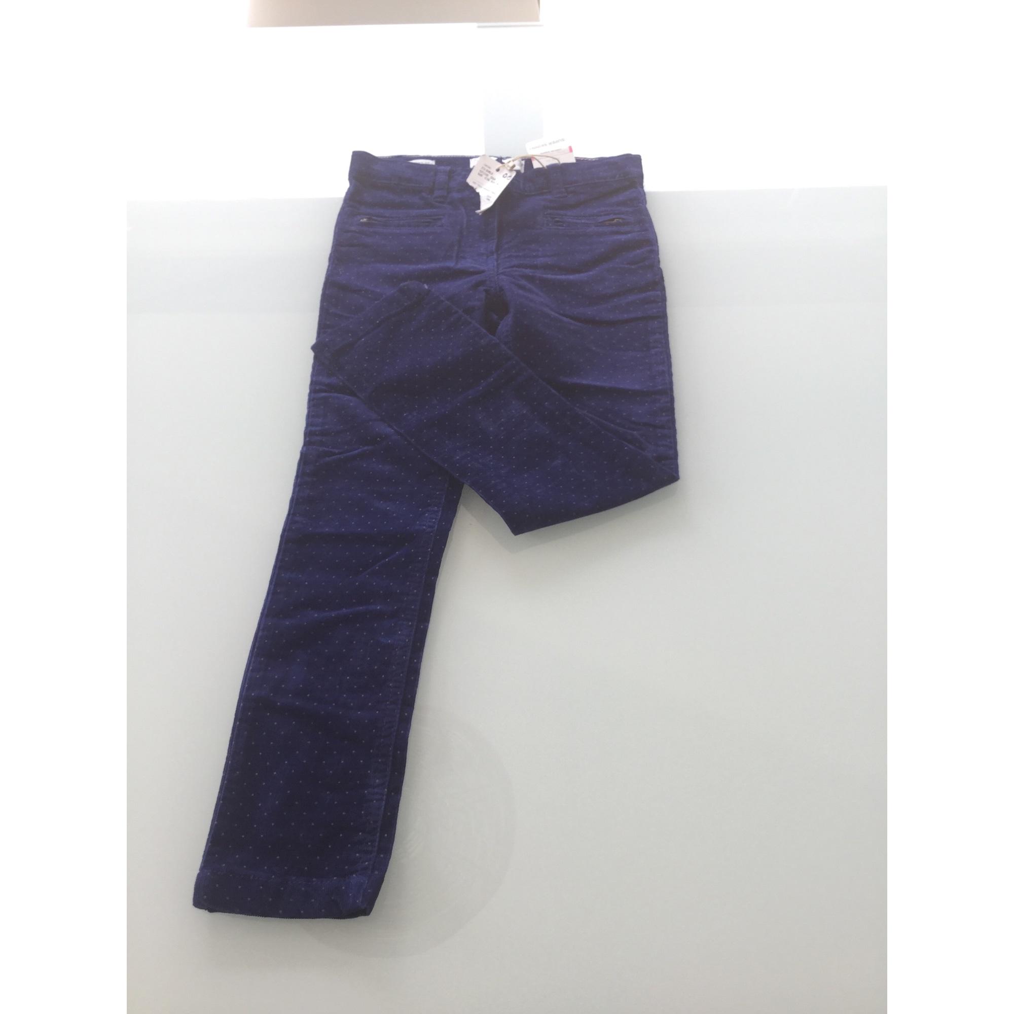 Pantalon MANGO Bleu, bleu marine, bleu turquoise