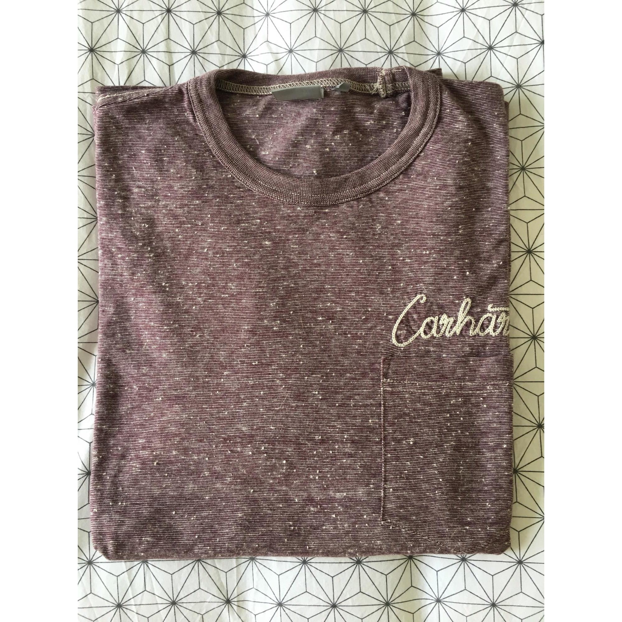 Tee-shirt CARHARTT Rouge, bordeaux