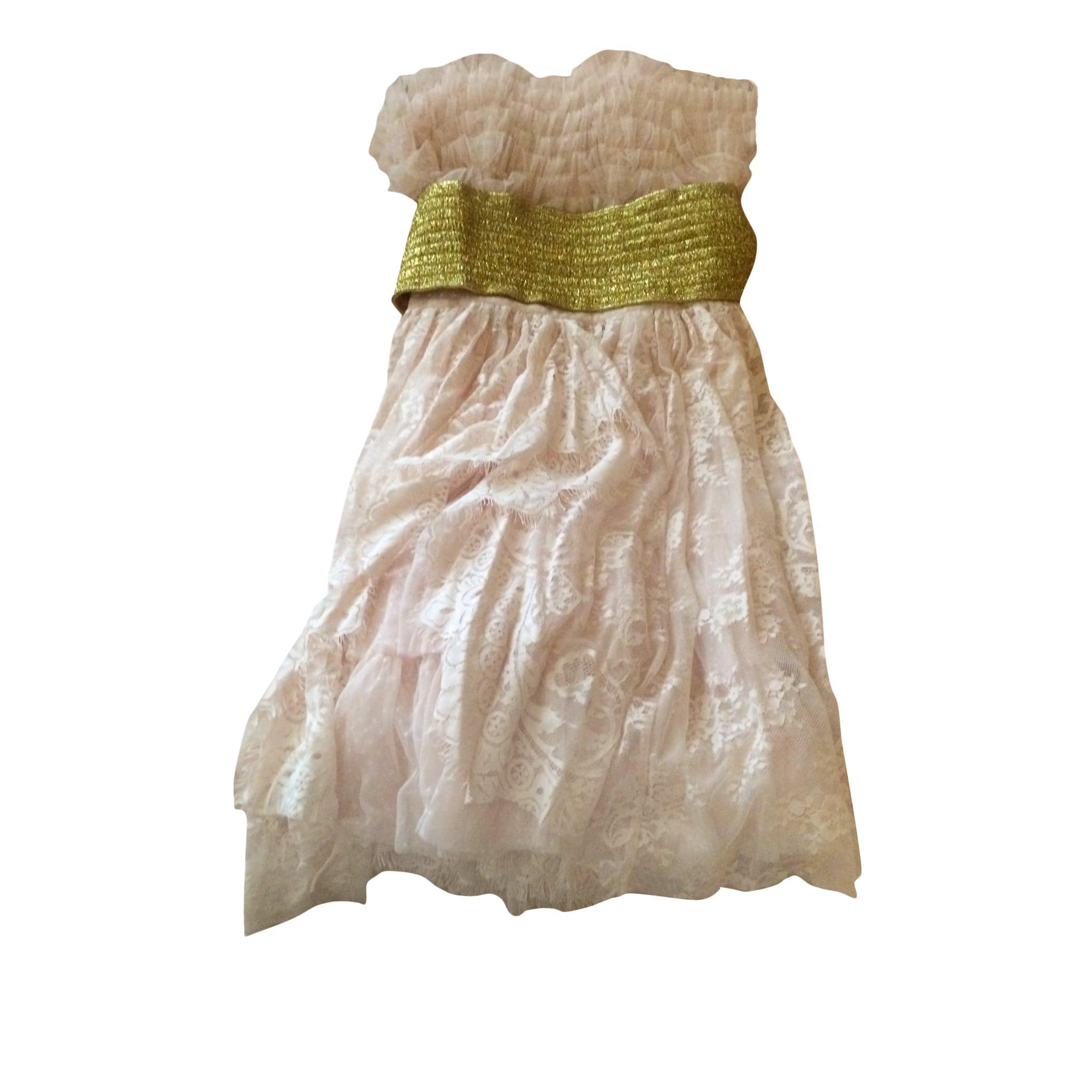 Robe courte MANOUSH Rose, fuschia, vieux rose