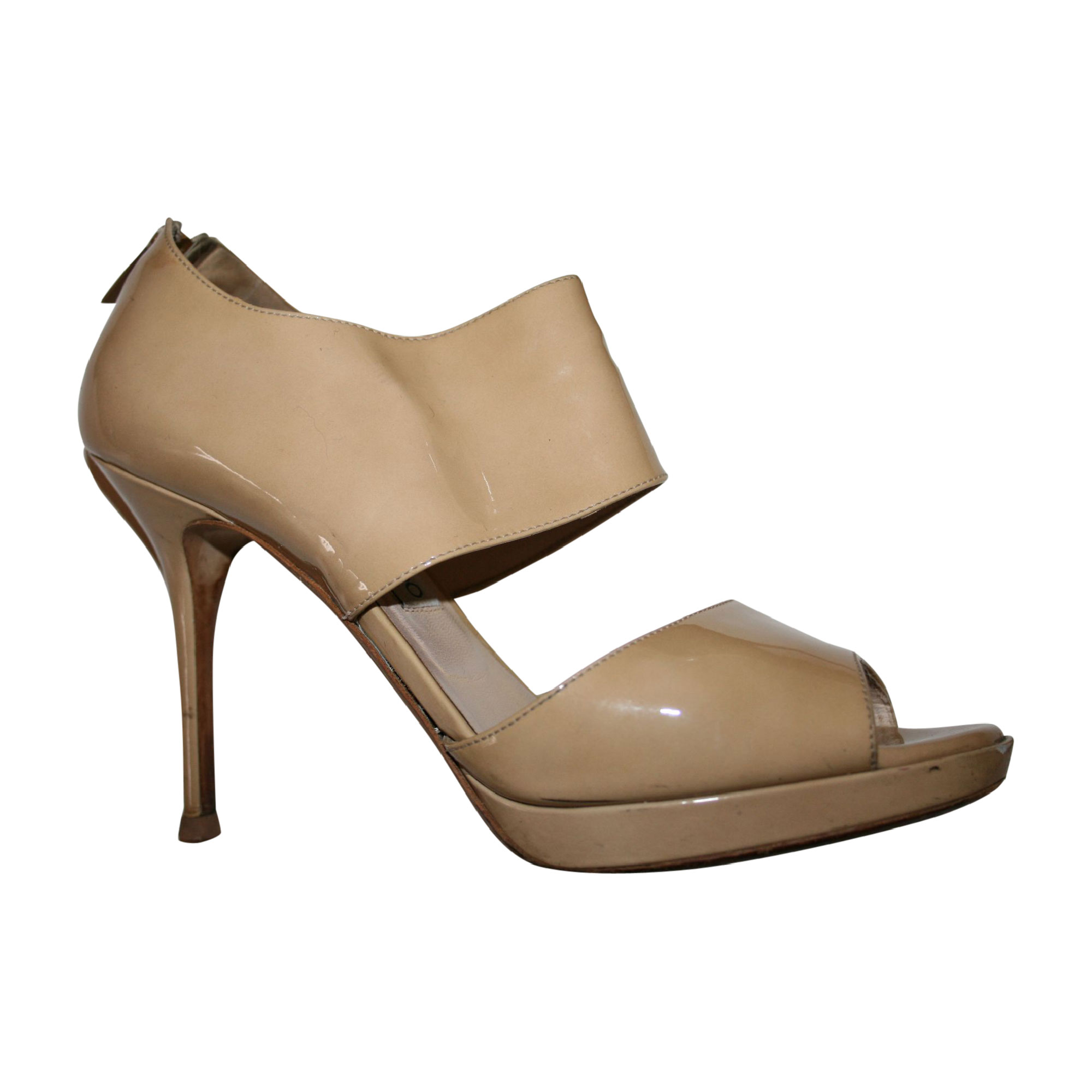Sandales à talons JIMMY CHOO Beige, camel