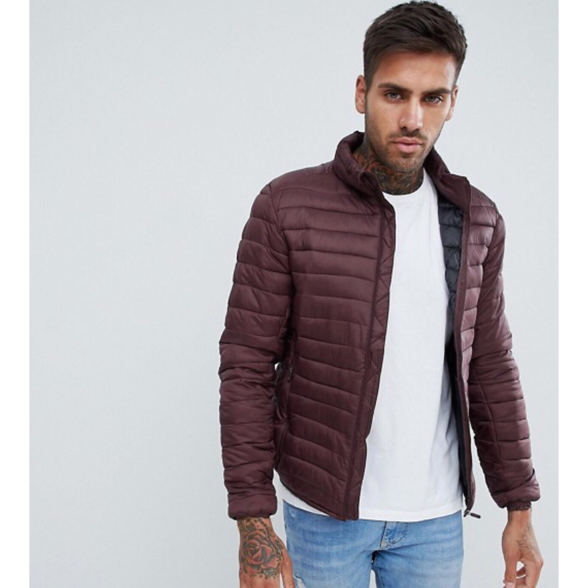 doudoune pull and bear homme