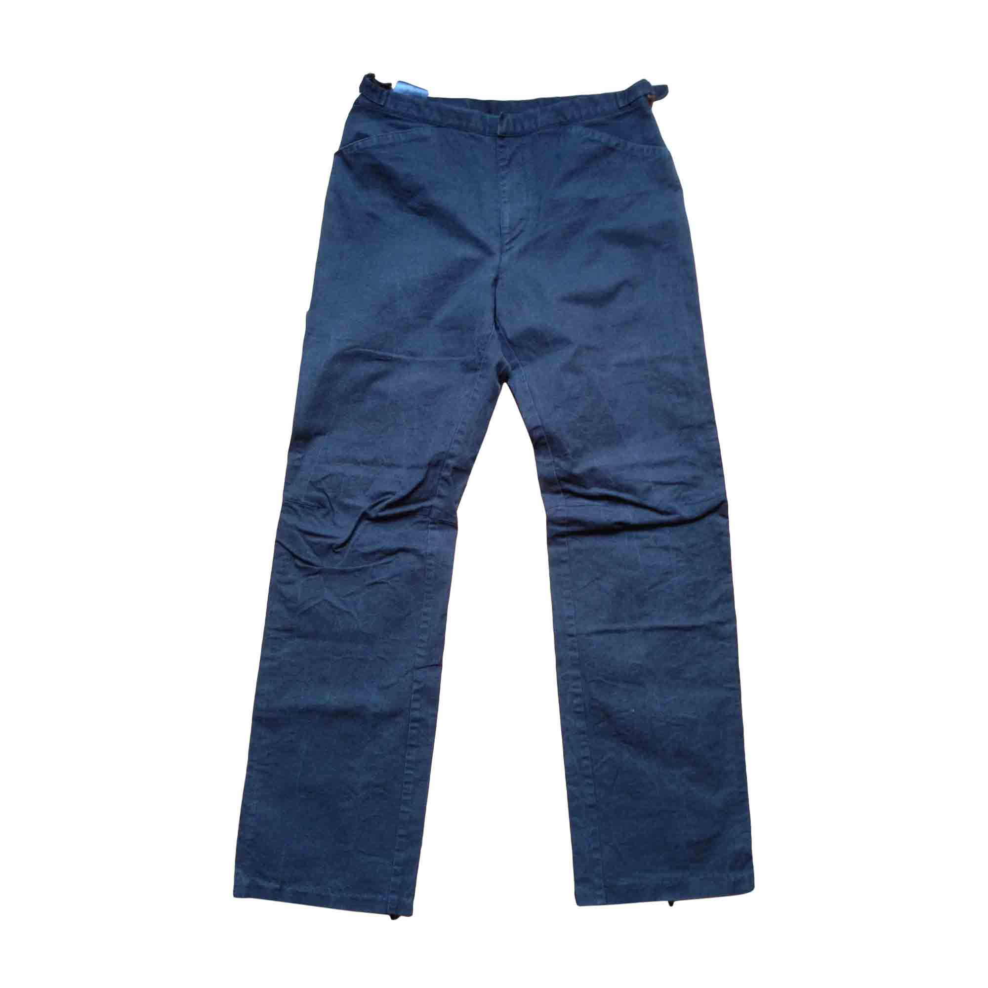 Pantalon droit BURBERRY Bleu, bleu marine, bleu turquoise