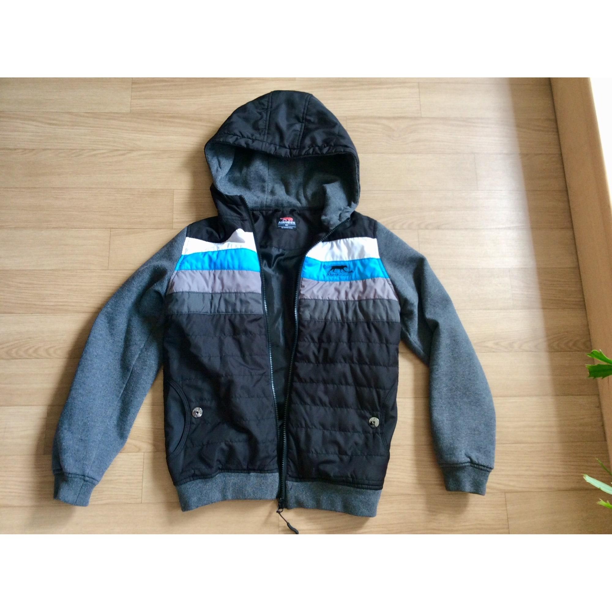 airness veste homme noire et bleu d'automne