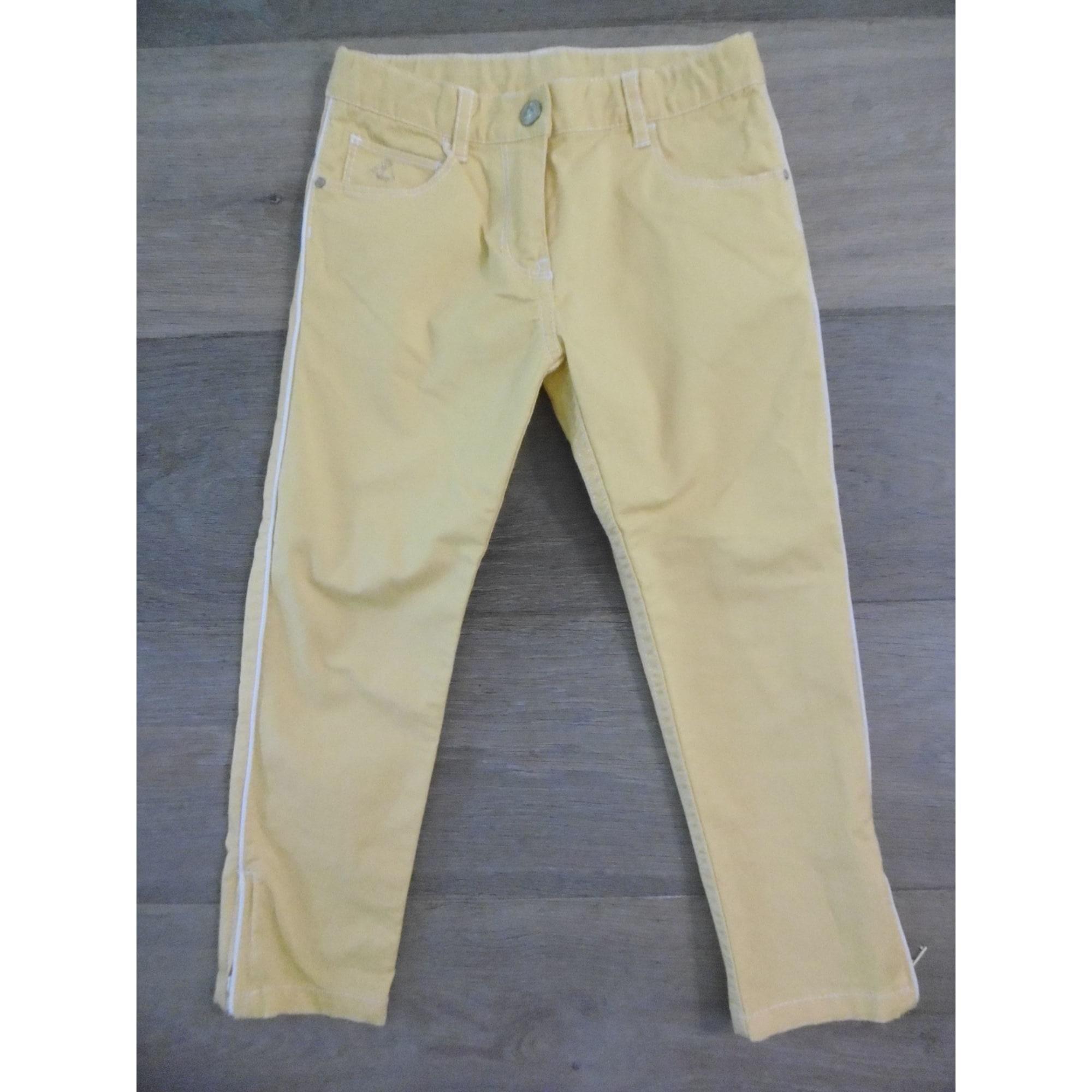 Pantalon PETIT BATEAU Jaune