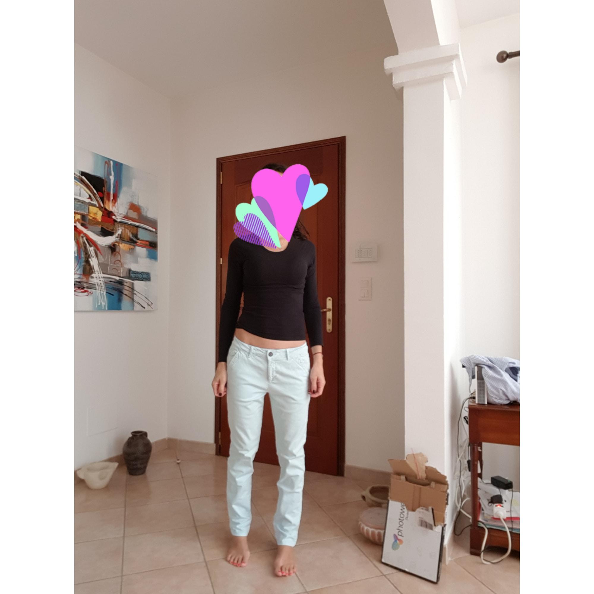 Pantalon droit REIKO Bleu, bleu marine, bleu turquoise