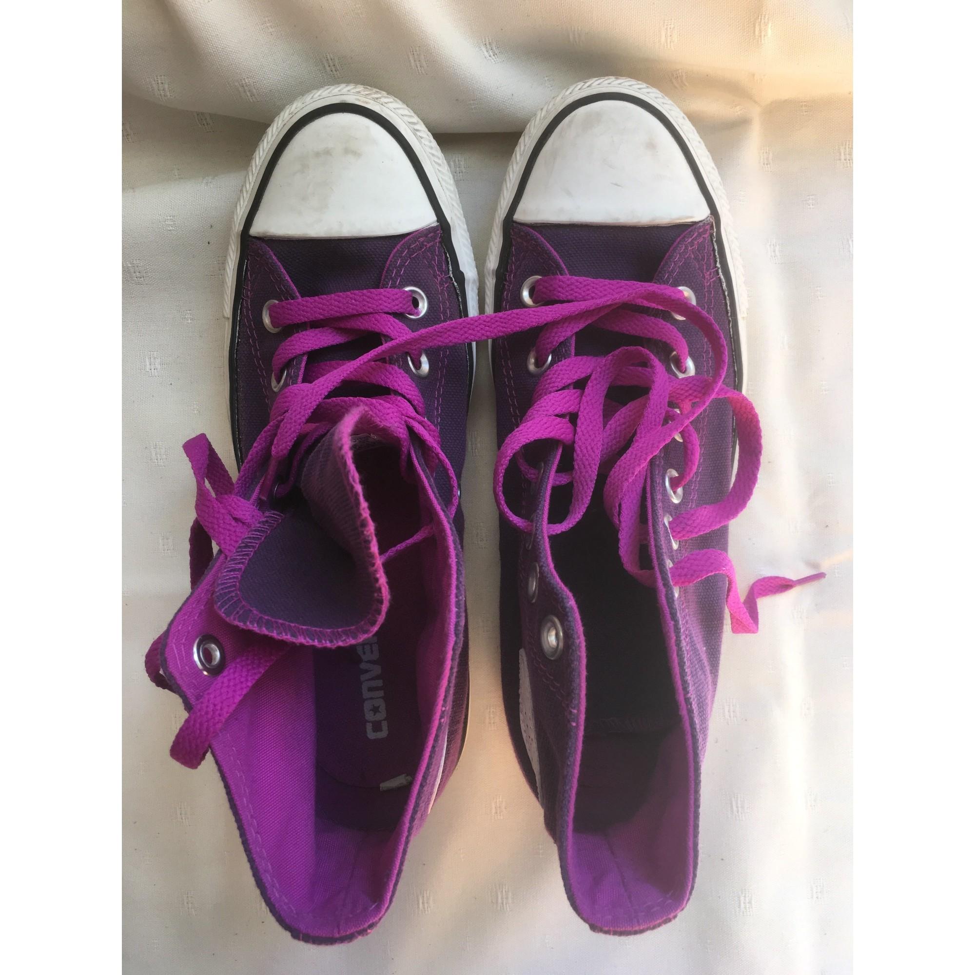 chaussures converses violet 37