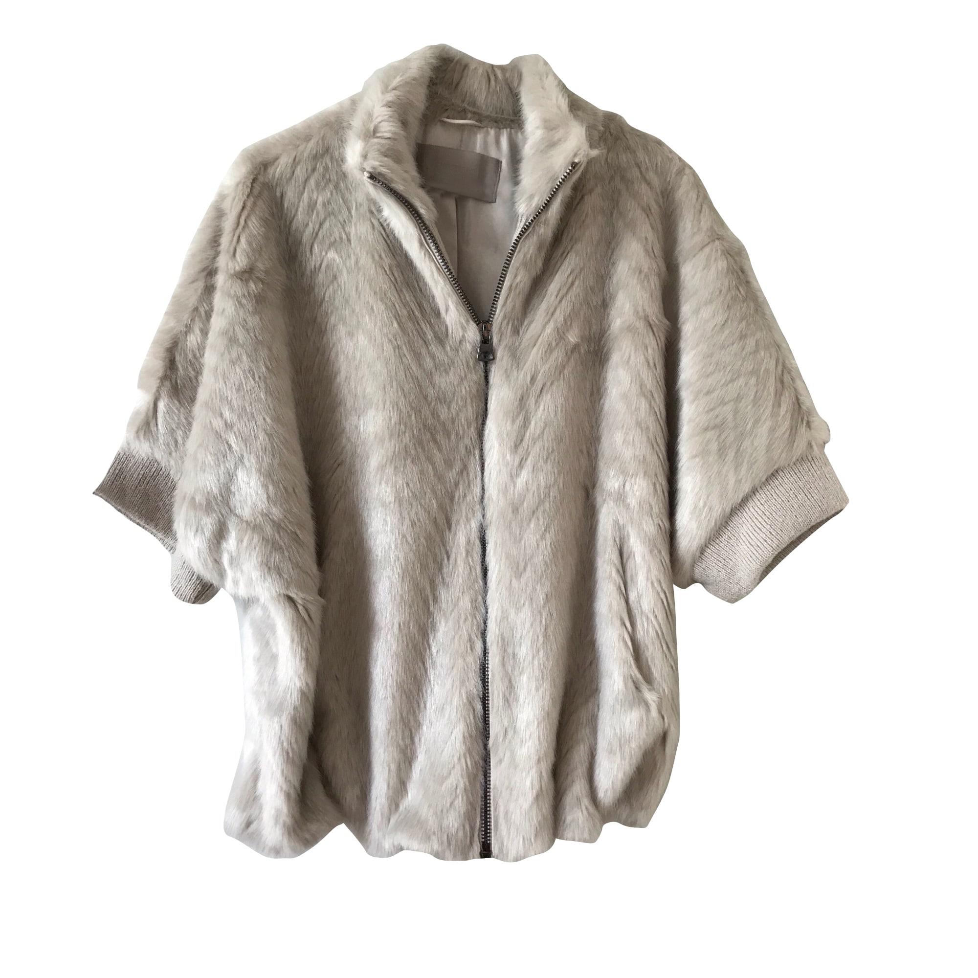 Blouson, veste en fourrure GEORGES RECH Blanc, blanc cassé, écru