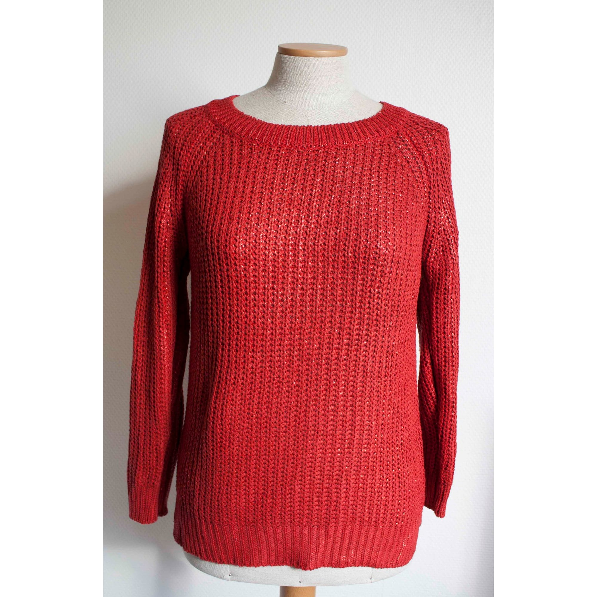 Pull ZARA Rouge, bordeaux