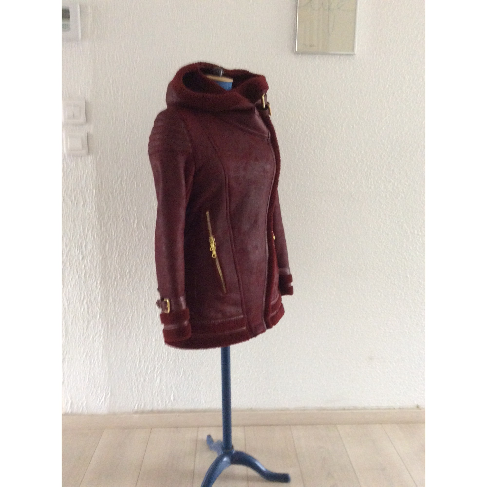 Blouson, veste en fourrure FOURRURE GIORGIO Rouge, bordeaux