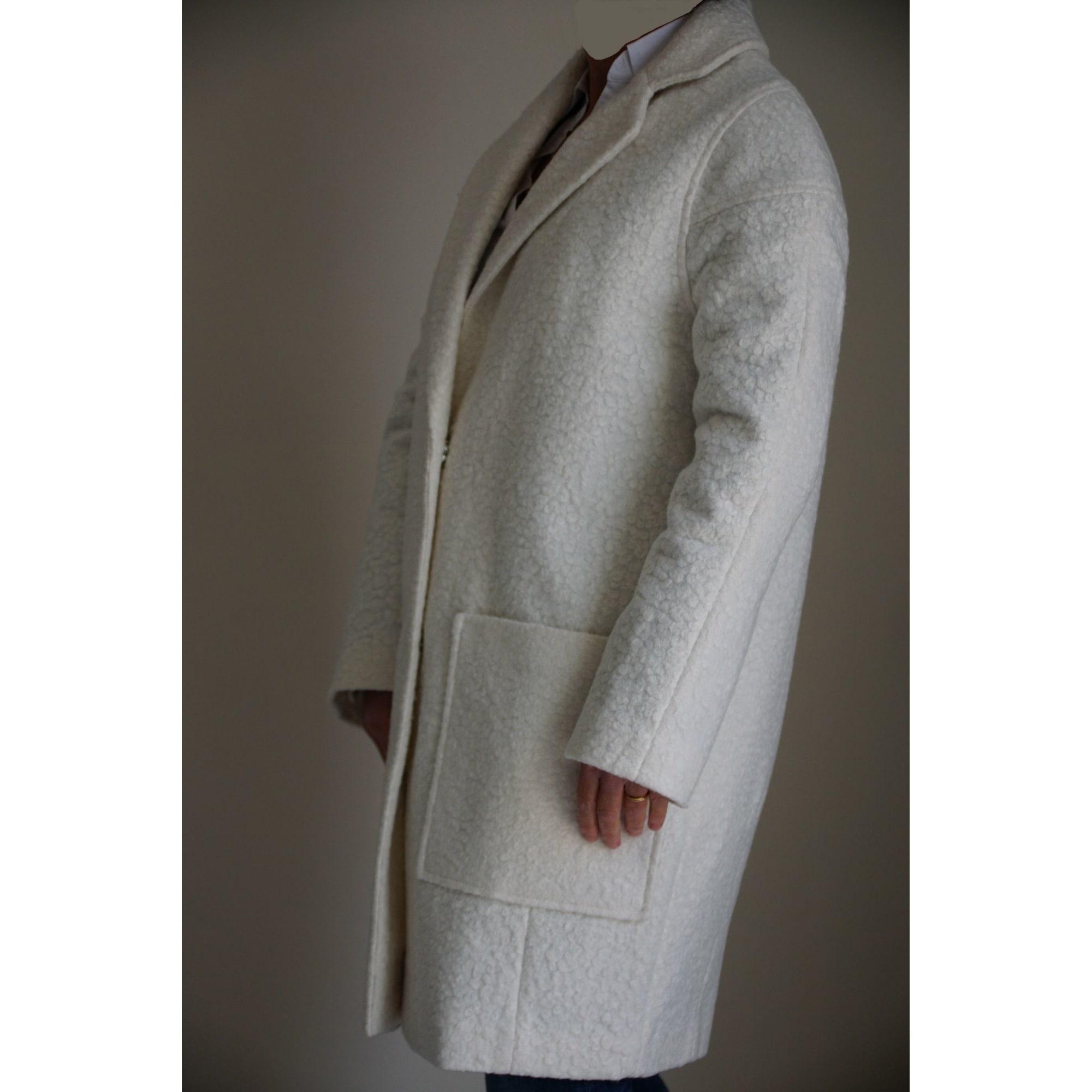 Manteau ASOS Blanc, blanc cassé, écru