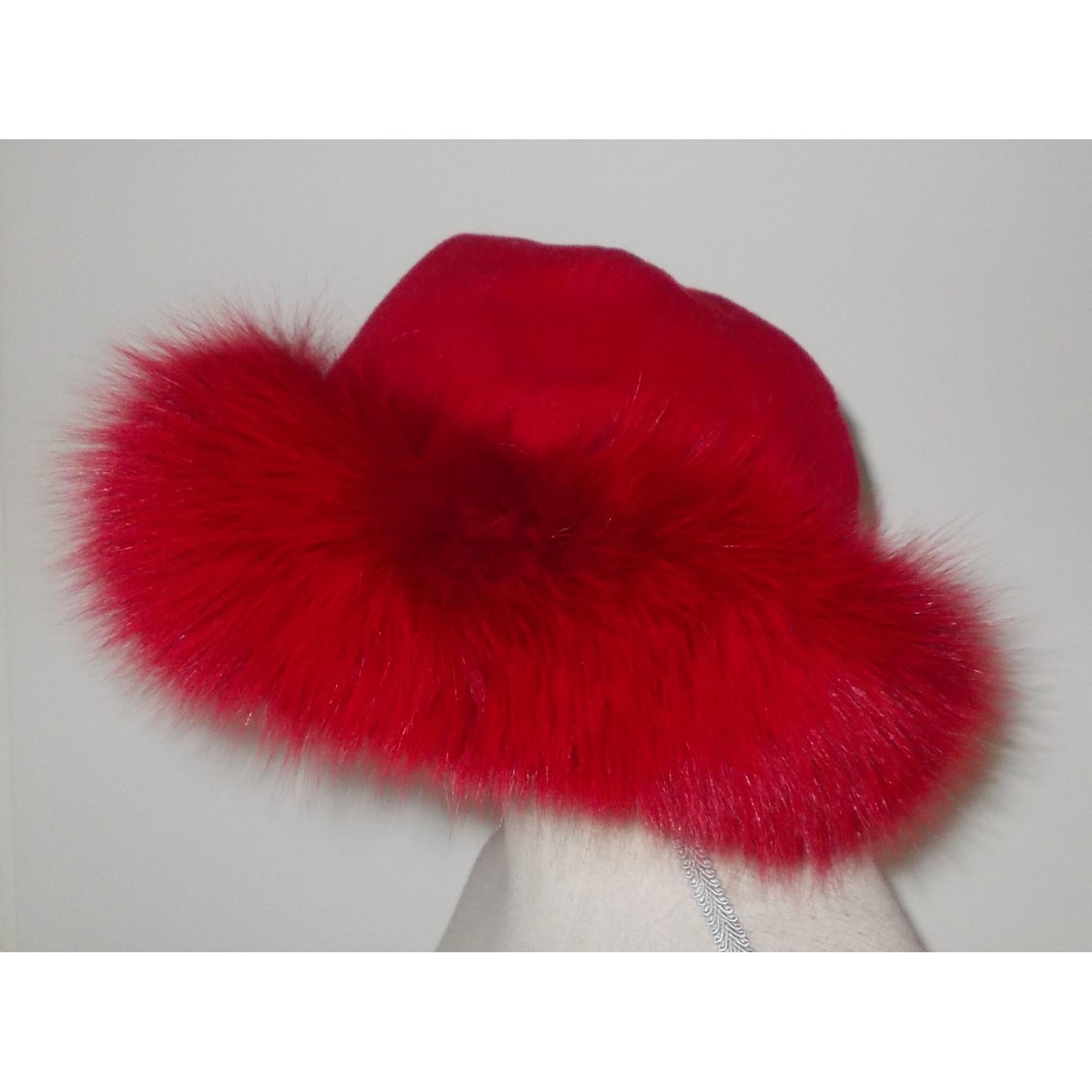 Chapeau BAYA Rouge, bordeaux