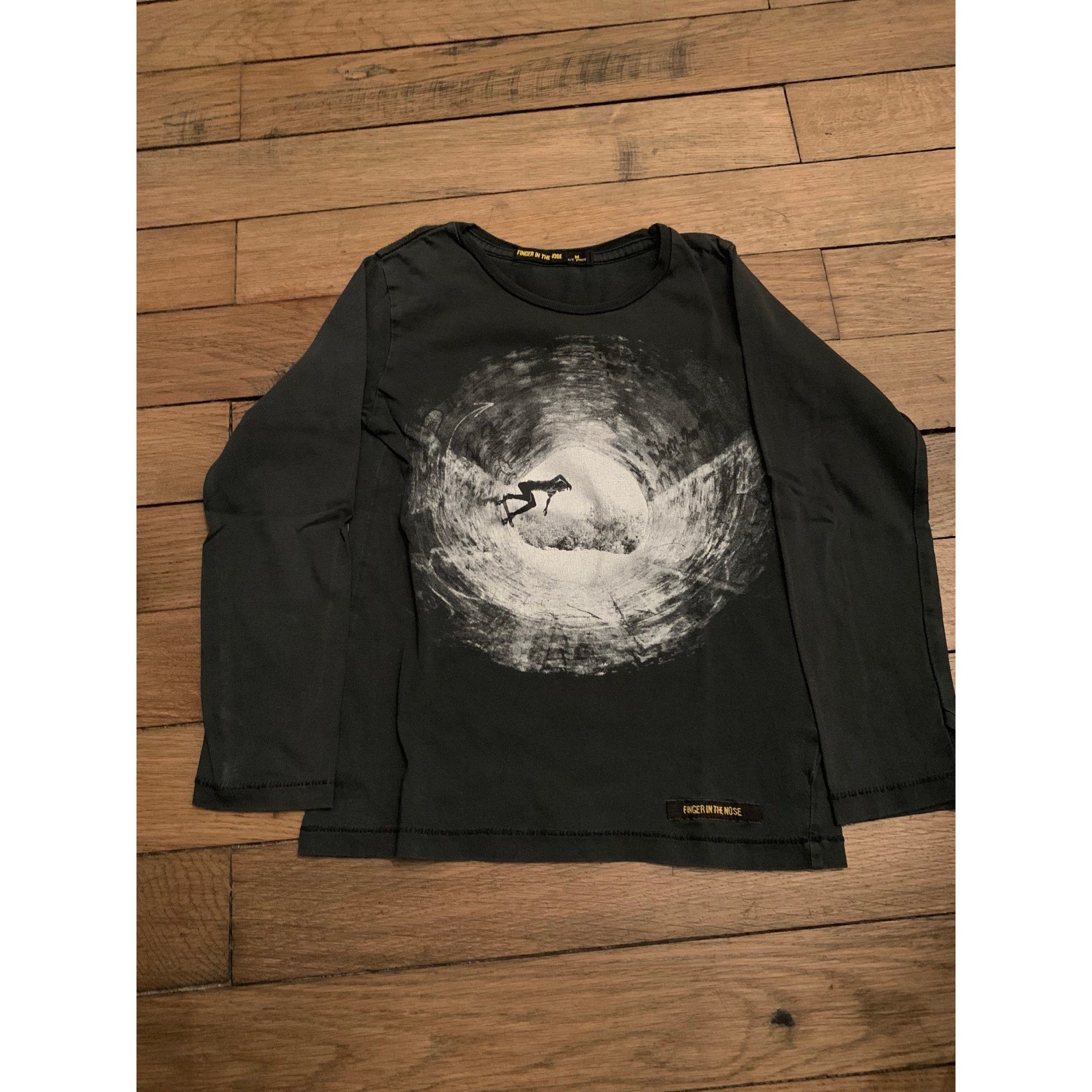 Tee-shirt FINGER IN THE NOSE Noir