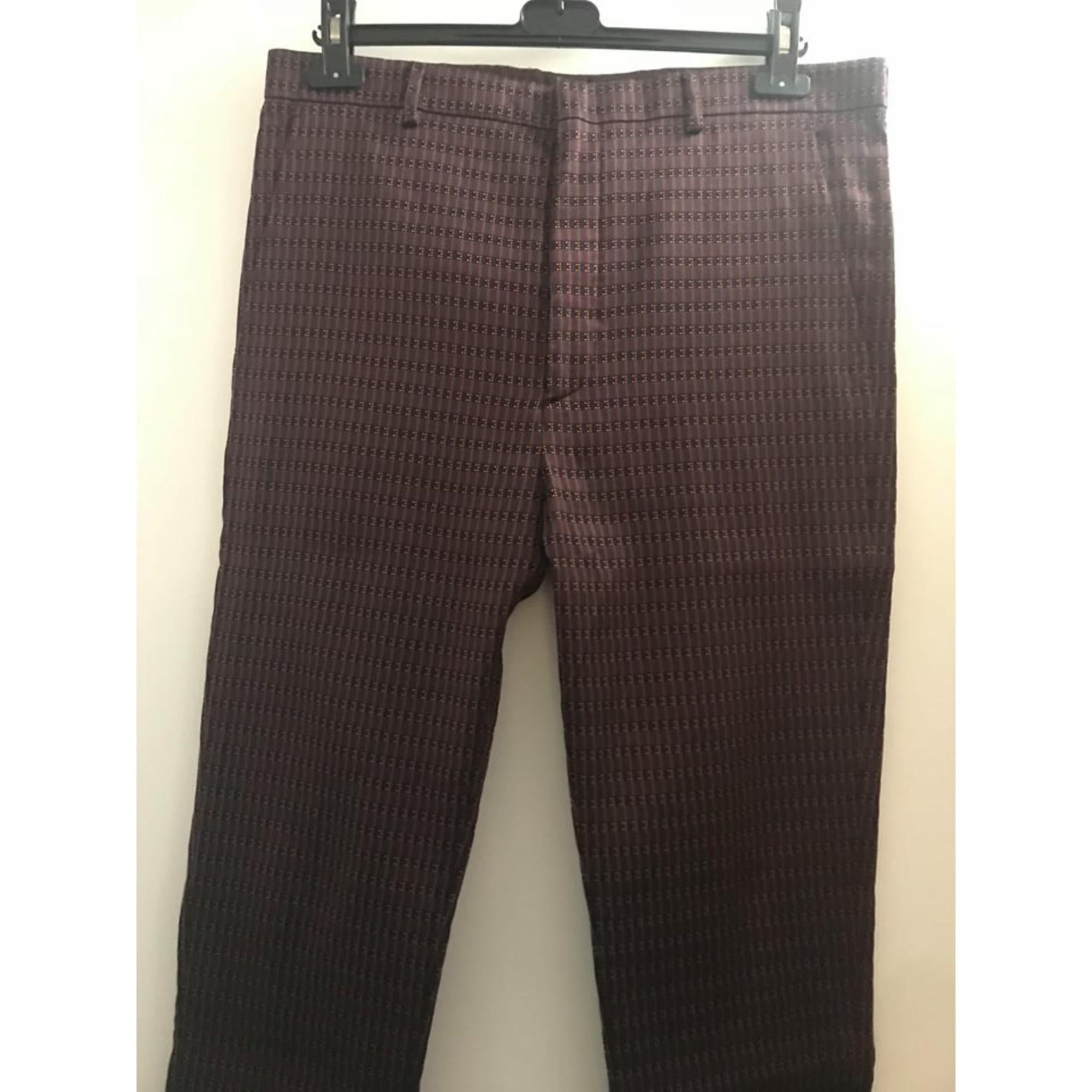 Pantalon droit LANVIN Rouge, bordeaux