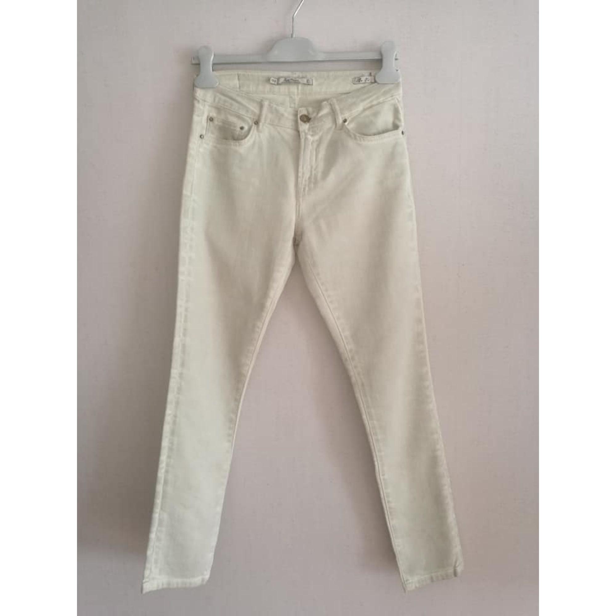 Pantalon slim, cigarette ZARA Vert