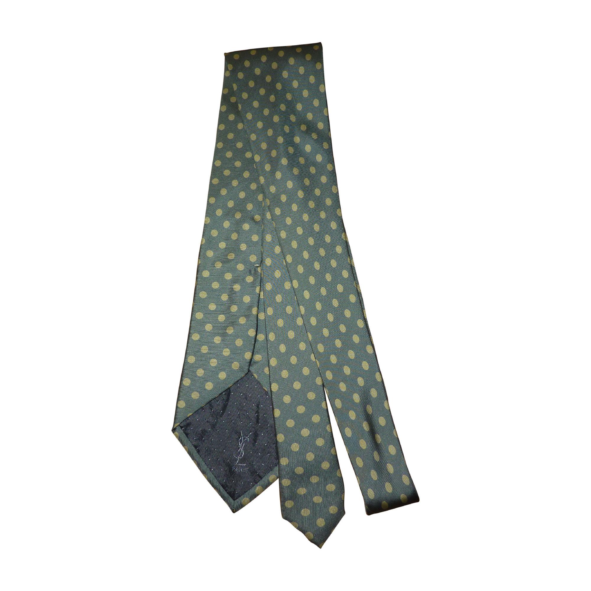 Cravate YVES SAINT LAURENT Vert