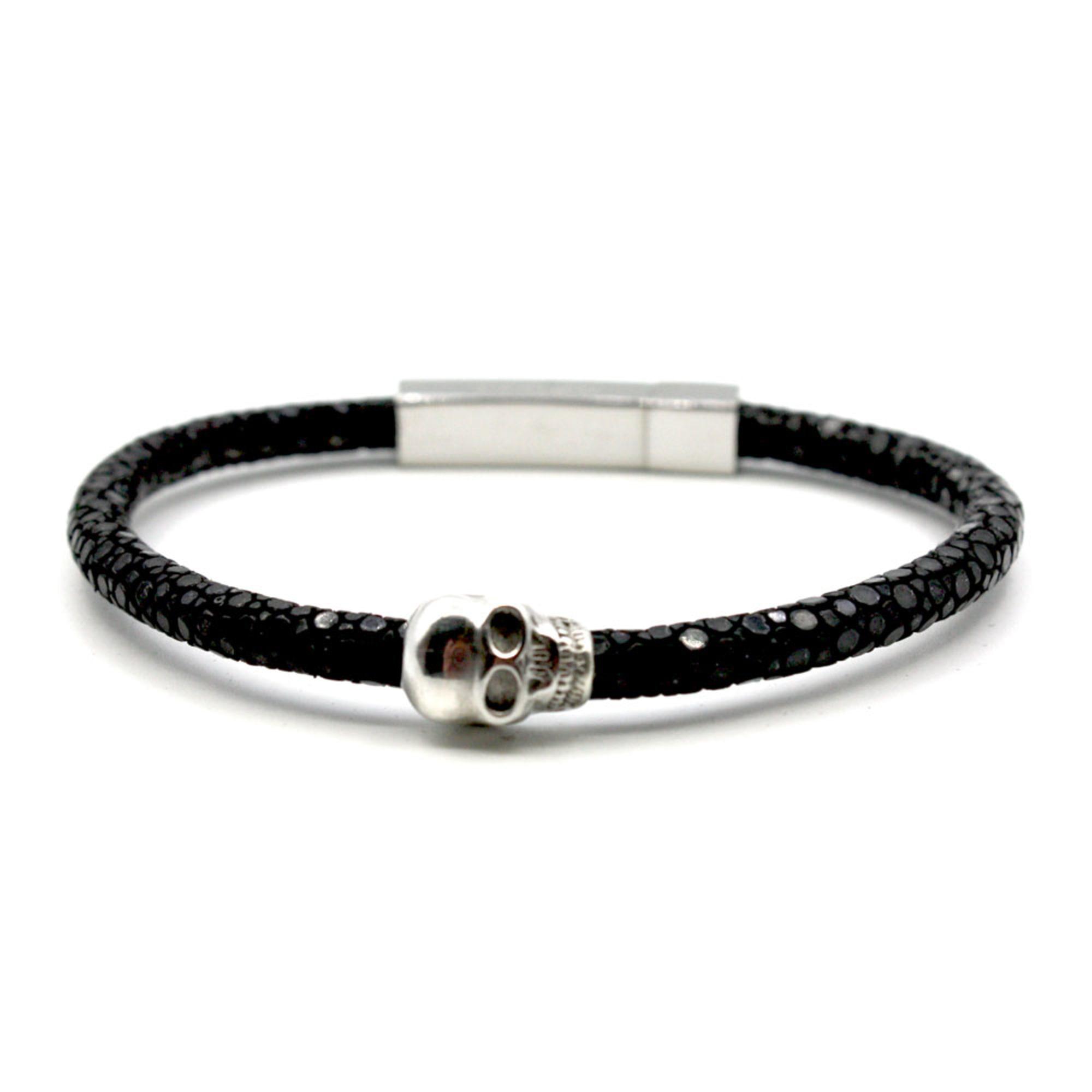 Bracelet LLUKS cuir noir
