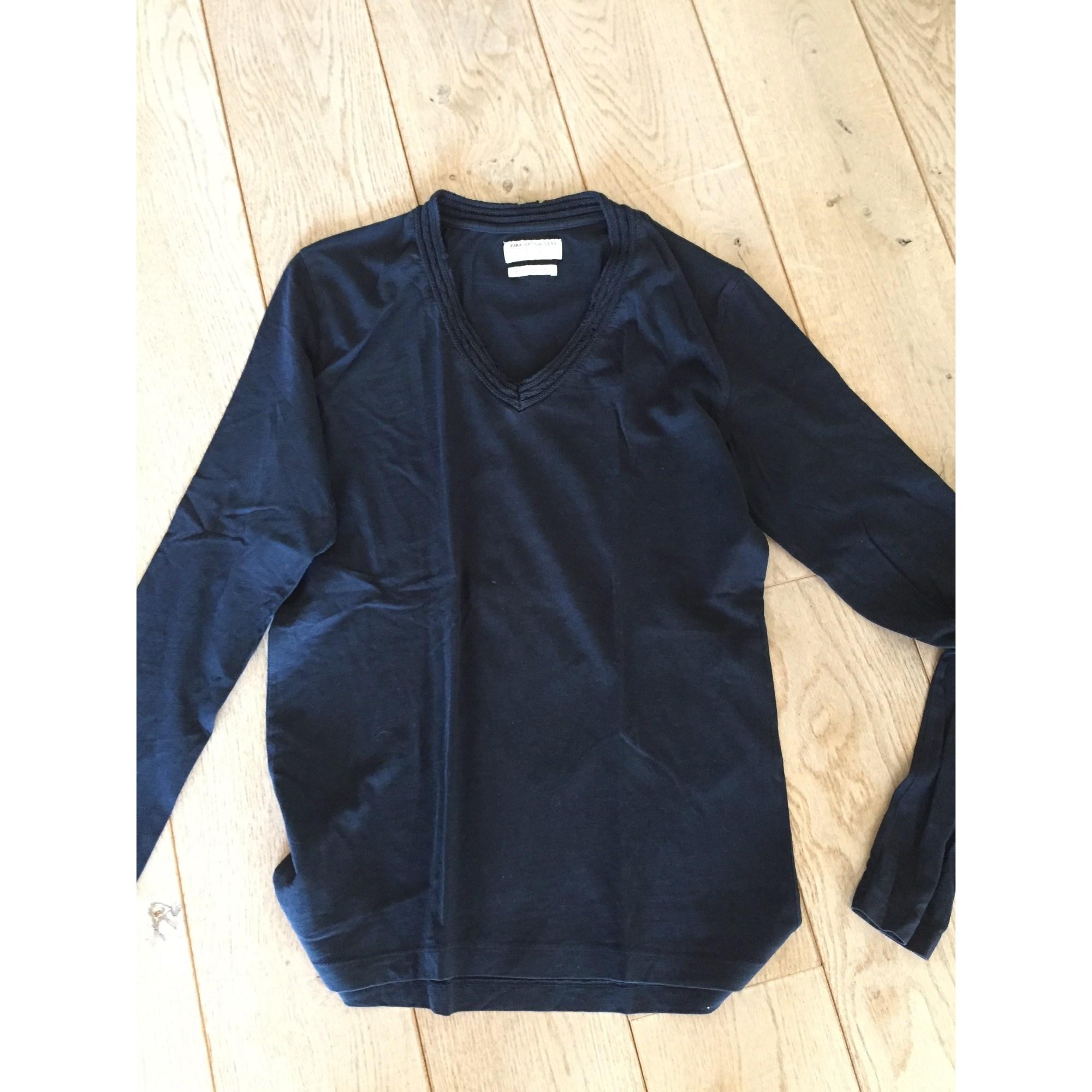 Tee-shirt ZARA Bleu, bleu marine, bleu turquoise