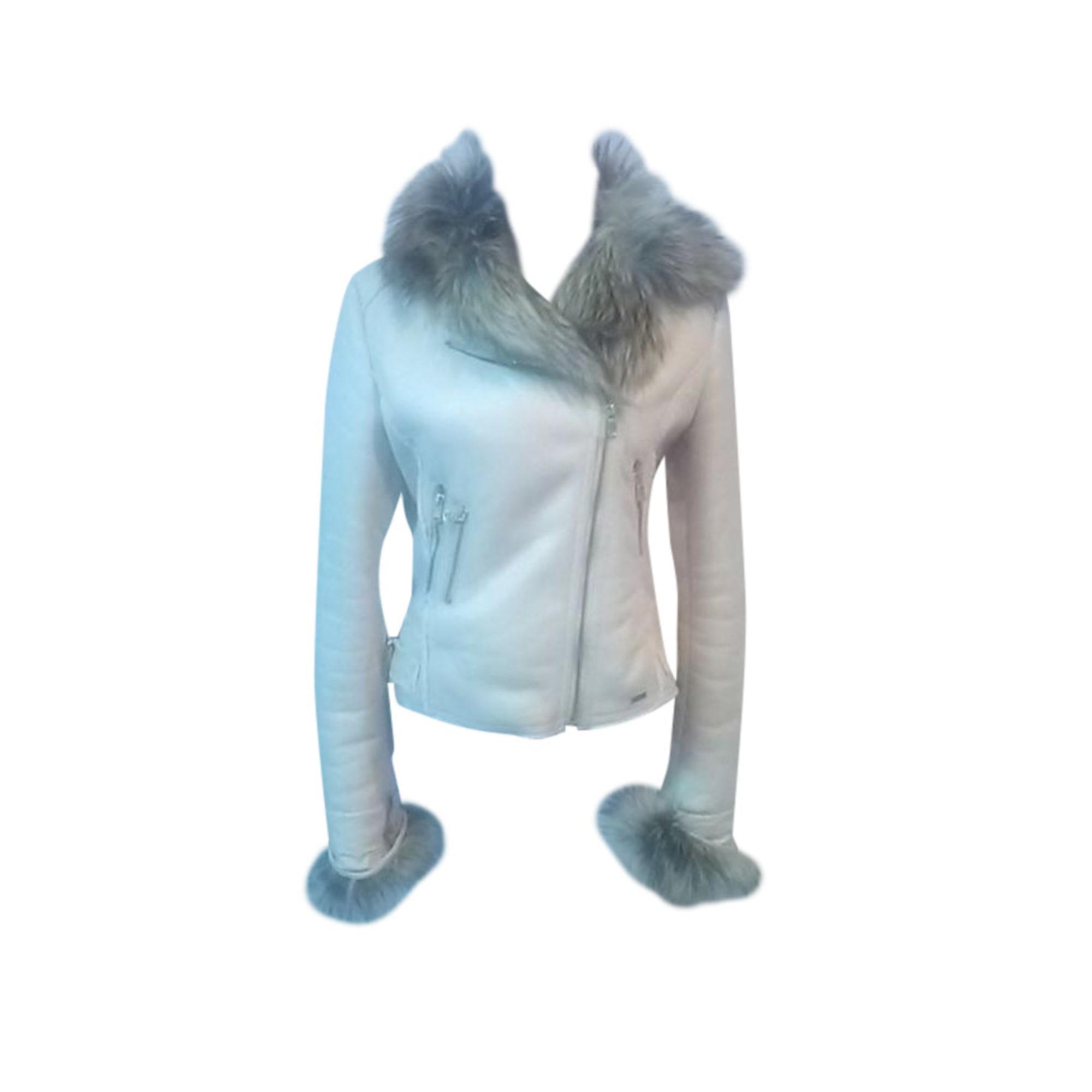 Manteau GUESS Blanc, blanc cassé, écru