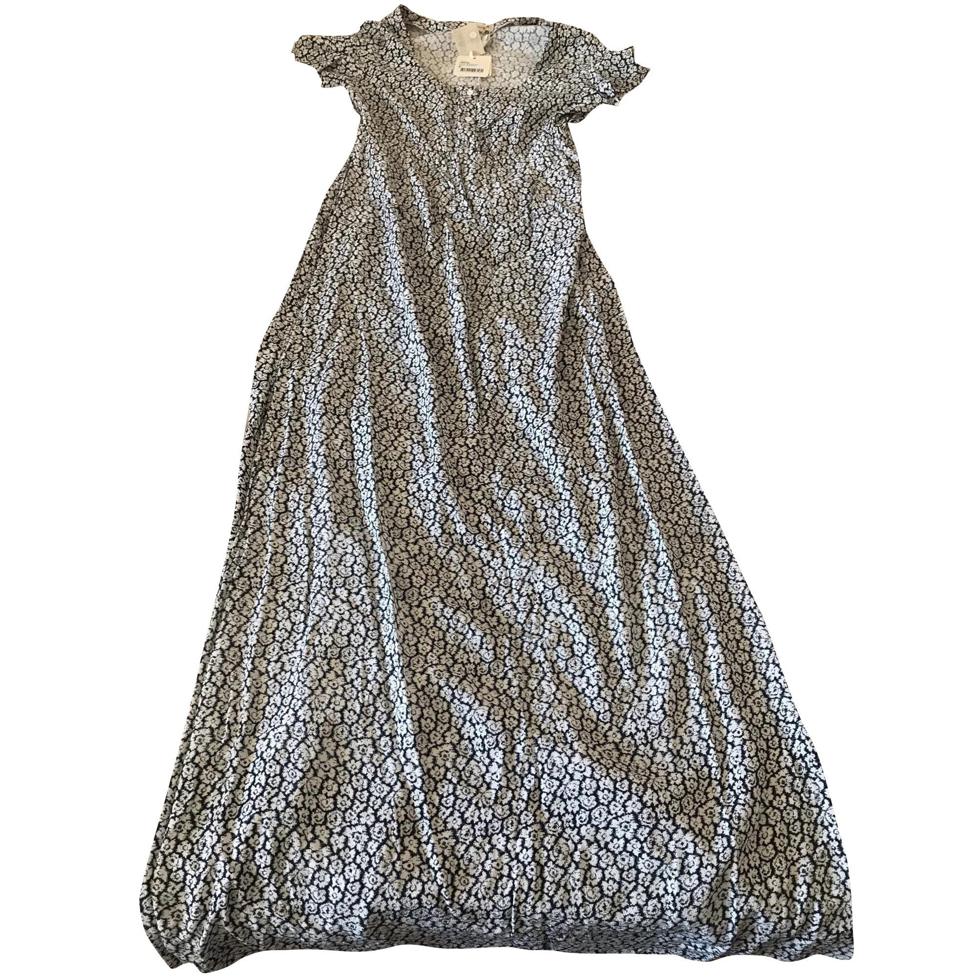 Robe Longue American Vintage 36 S T1 Noire Et Blanche 8409751