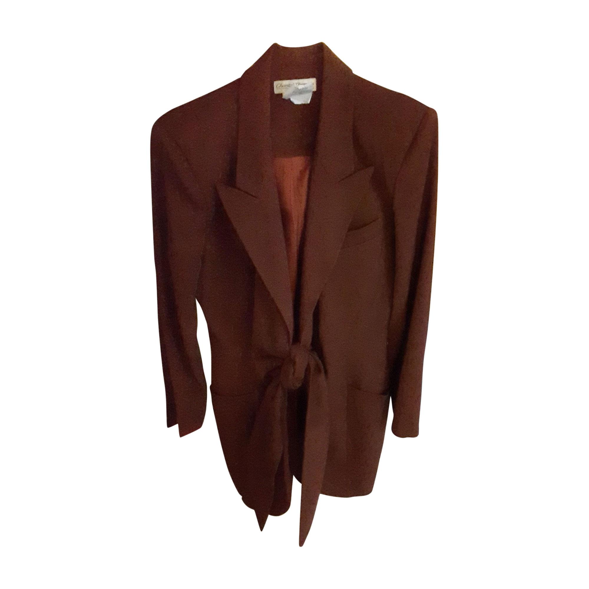 Tailleur jupe CHANTAL THOMASS Rouge, bordeaux