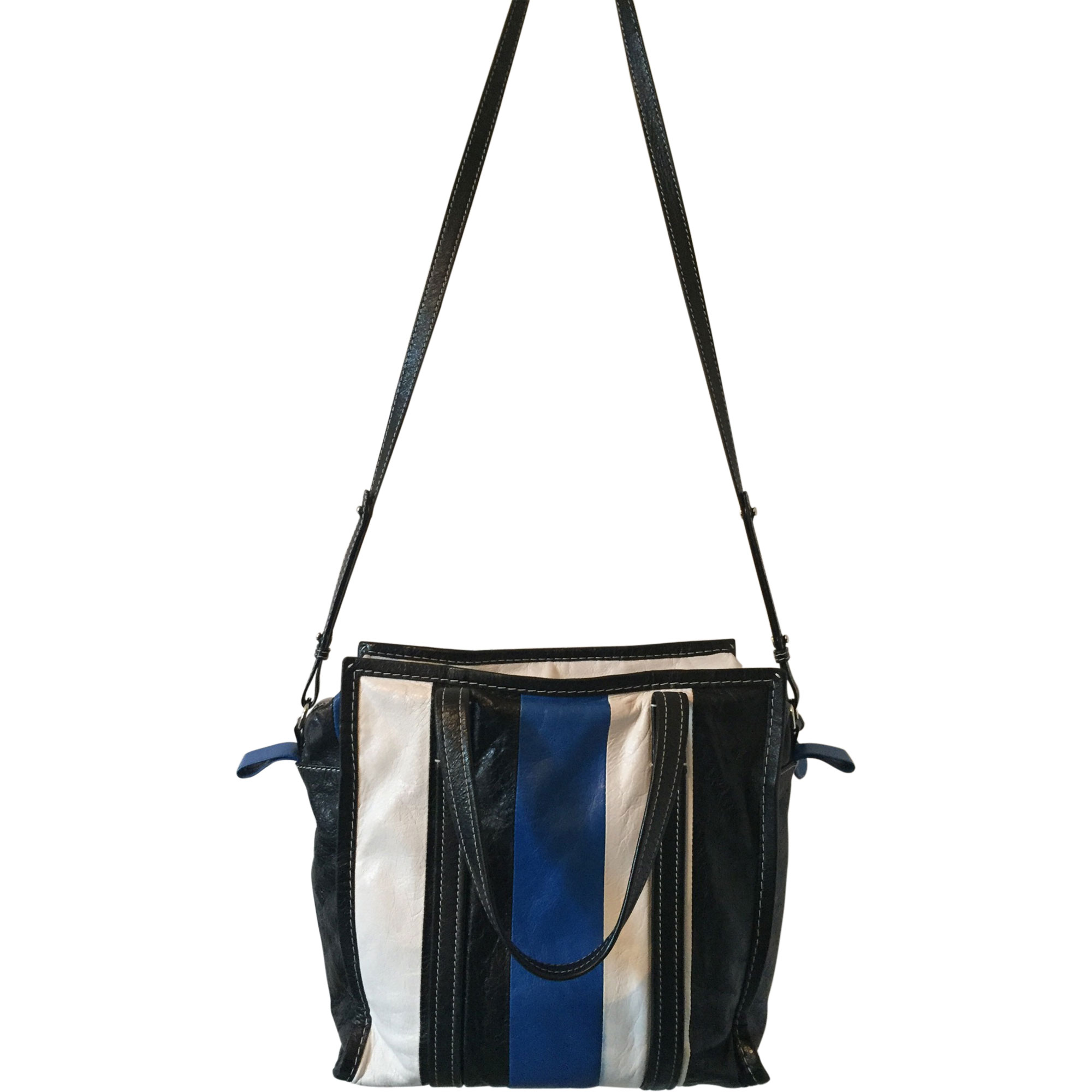 Sac en bandoulière en cuir BALENCIAGA Bazar Bleu, bleu marine, bleu turquoise