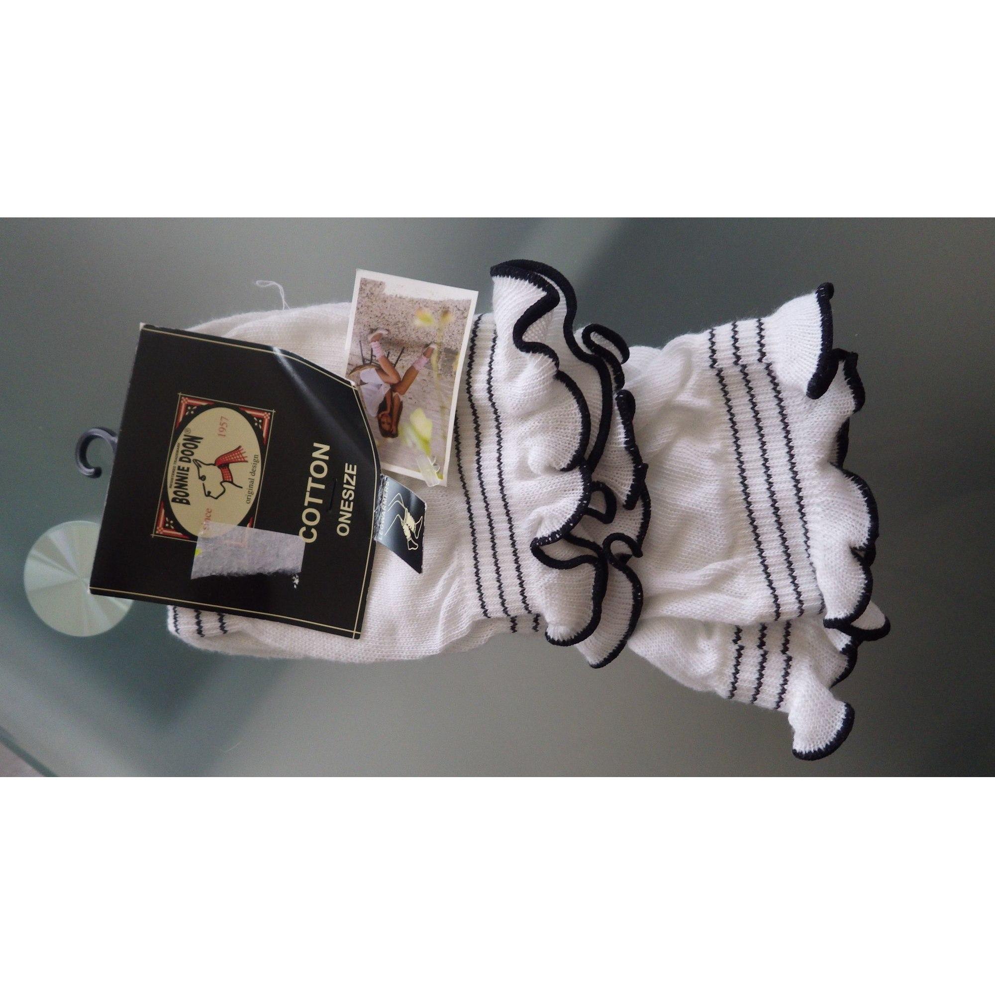 Mi-chausettes BONNIE DOON Blanc, blanc cassé, écru
