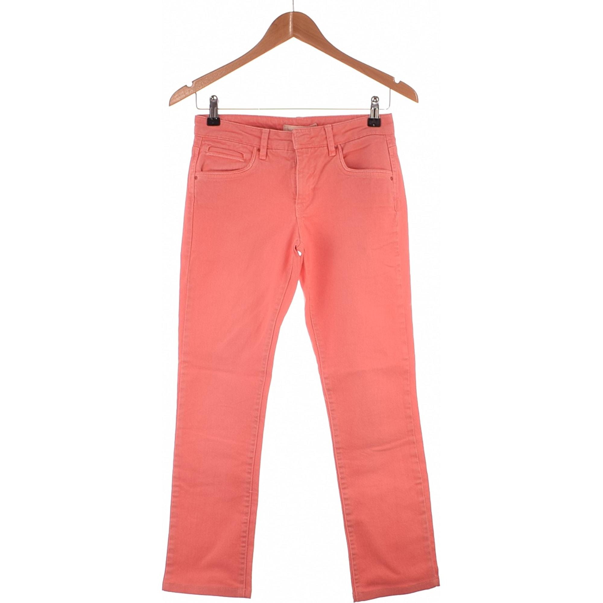 Jeans droit SUD EXPRESS Rose, fuschia, vieux rose