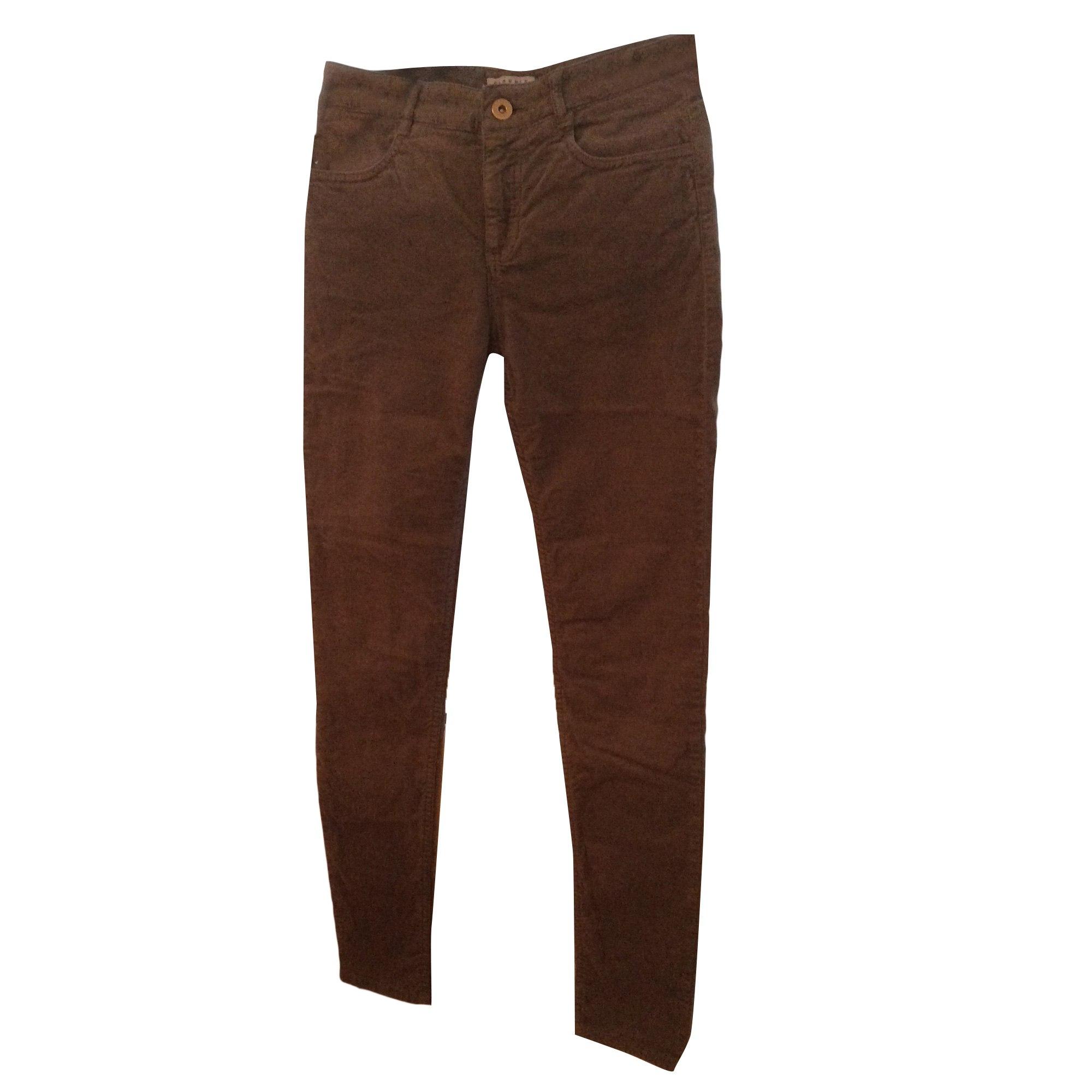Pantalon slim, cigarette CLAUDIE PIERLOT Gris, anthracite