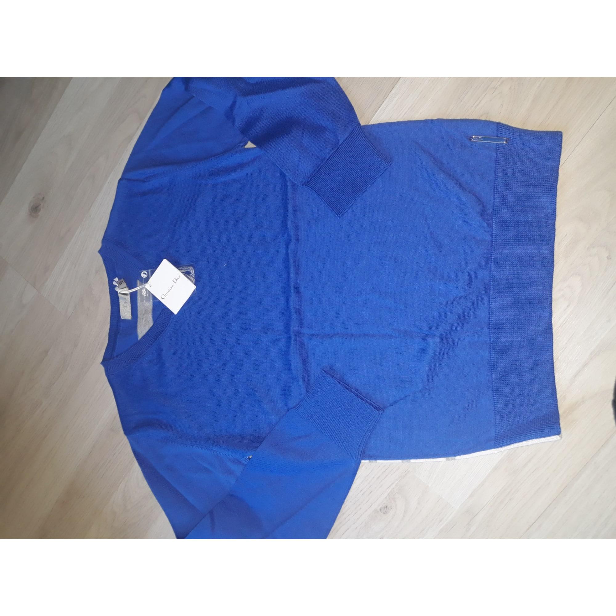 Pull DIOR Bleu, bleu marine, bleu turquoise