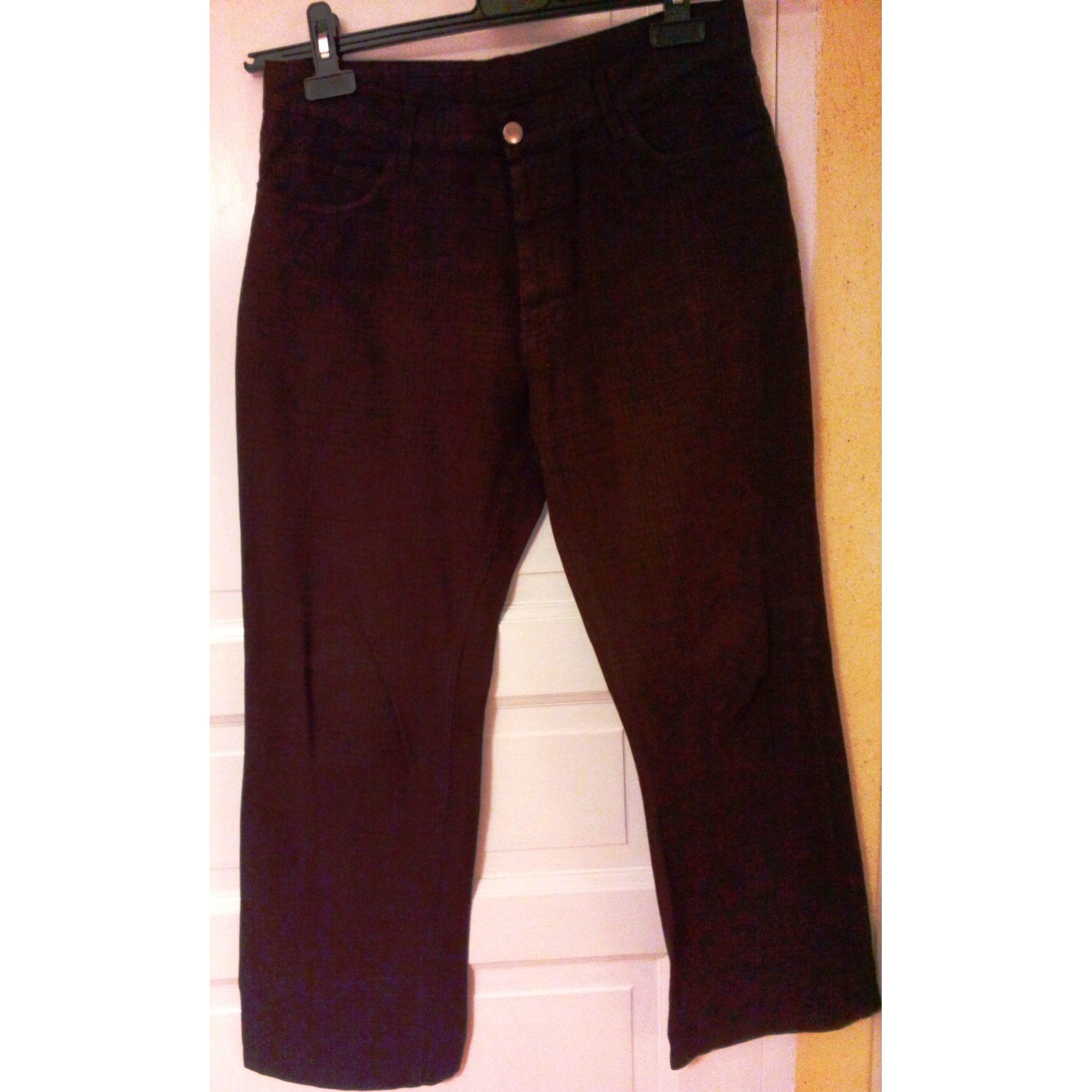 Pantalon droit CARNET DE VOL Marron