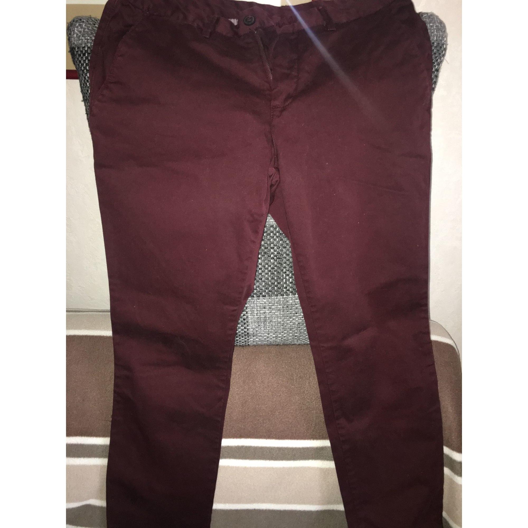 Jeans droit CELIO Rouge, bordeaux