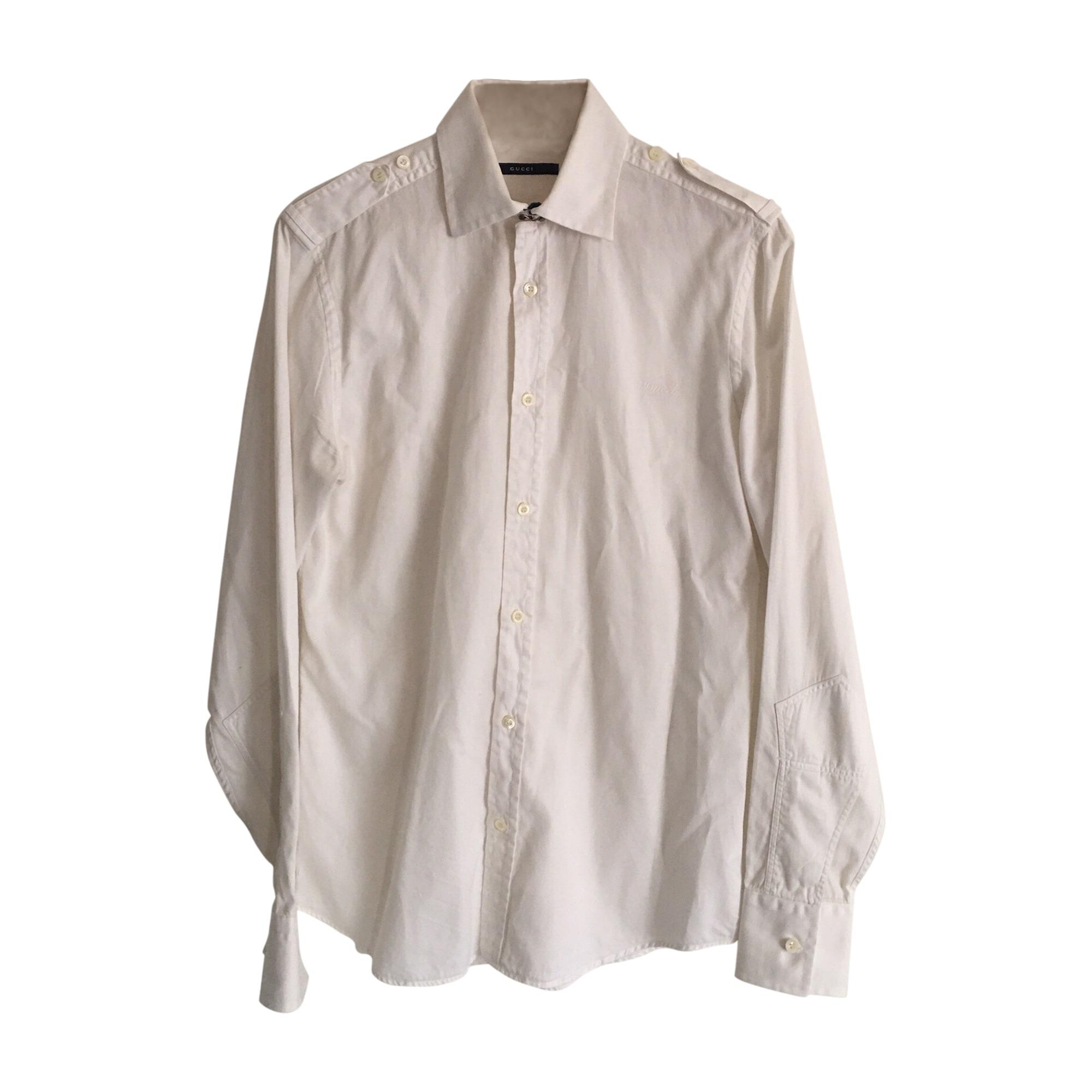 Chemise GUCCI Blanc, blanc cassé, écru
