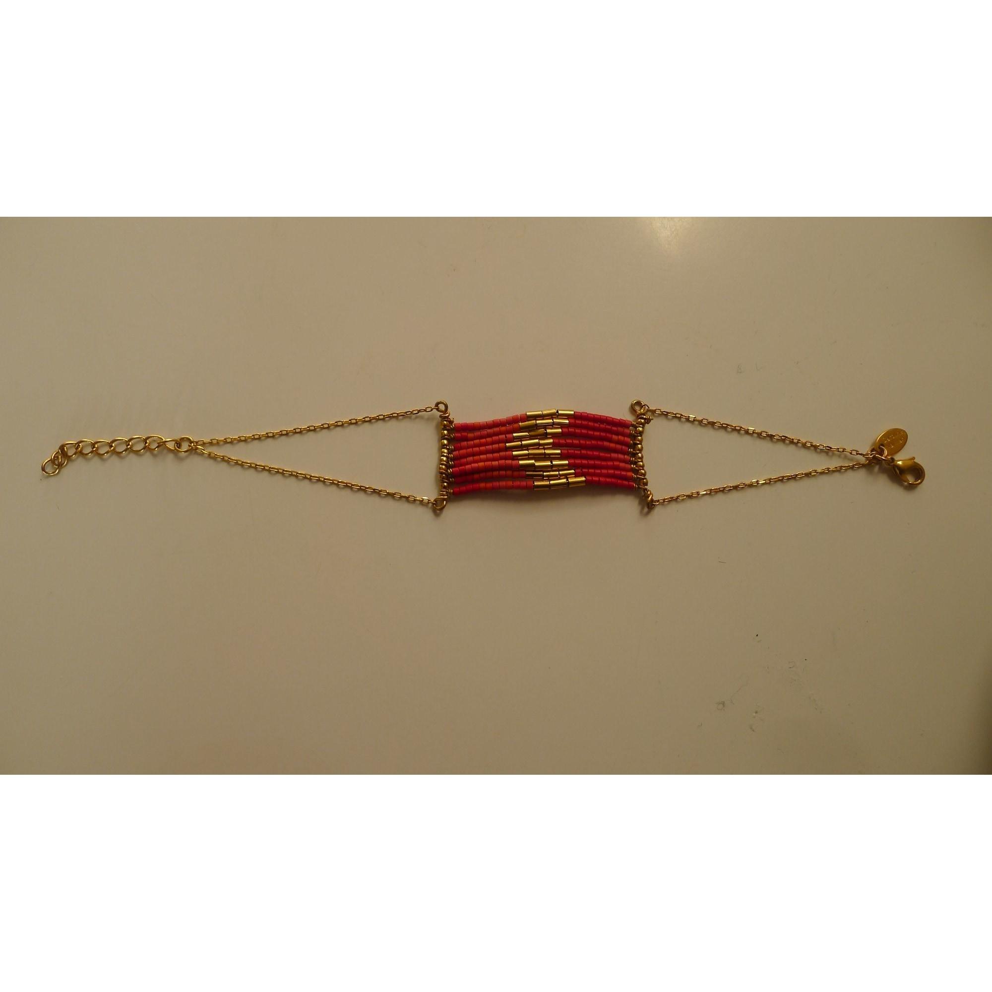 Bracelet CAROLINE NAJMAN Rouge, bordeaux