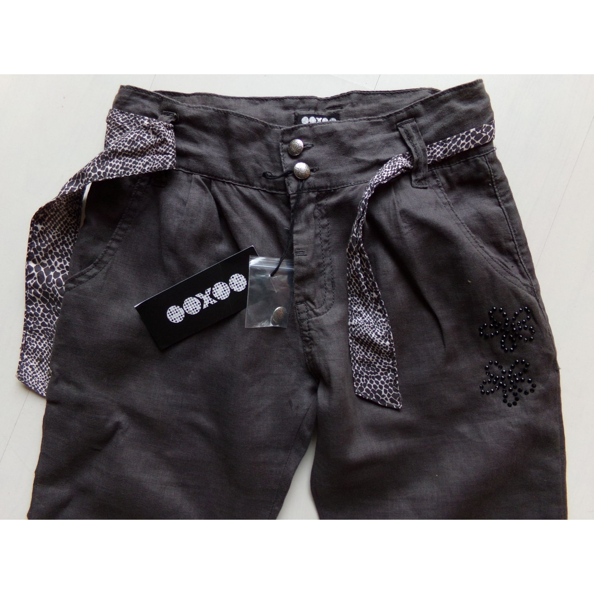 Pantalon OOXOO Gris, anthracite