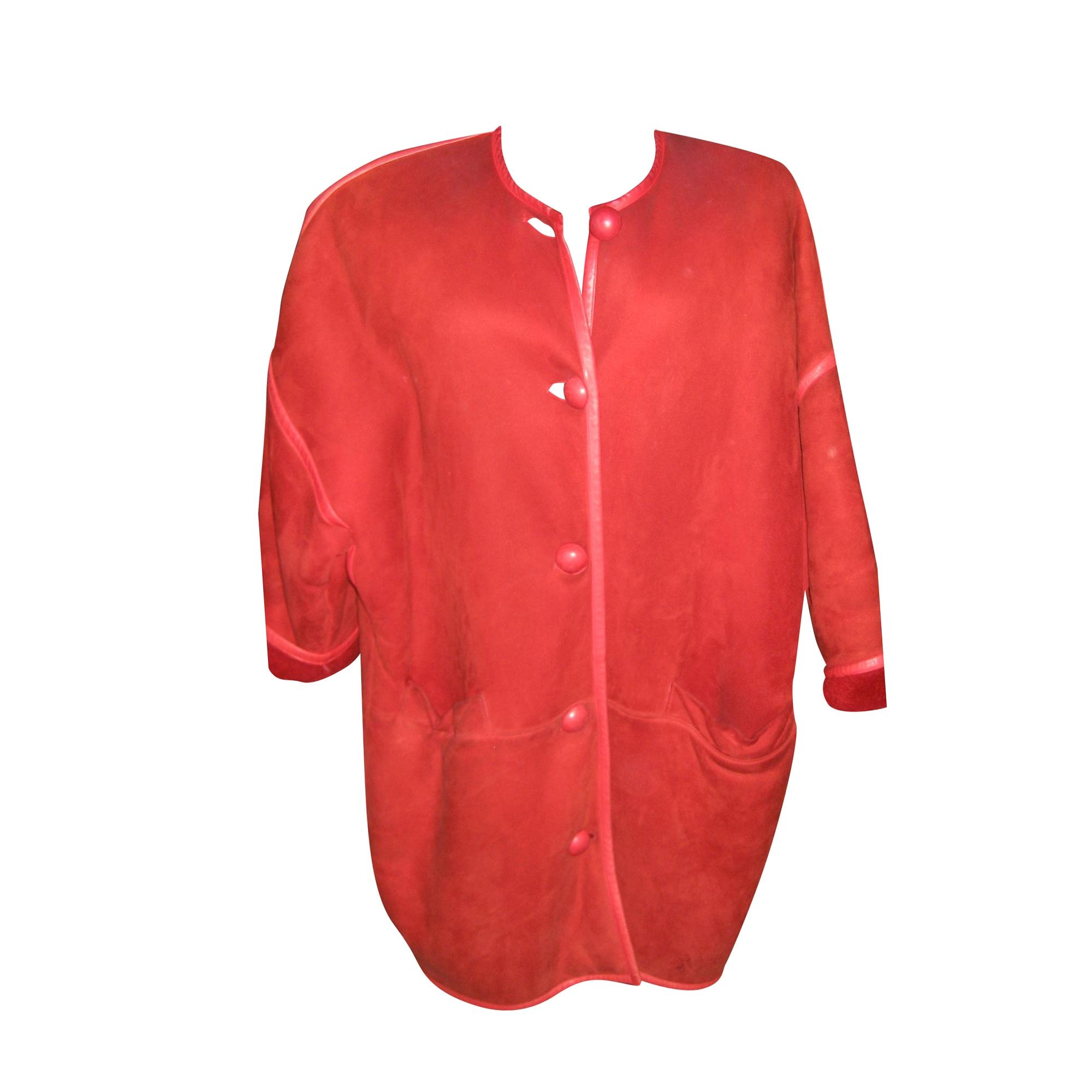 Blouson, veste en fourrure GEORGES RECH Rouge, bordeaux
