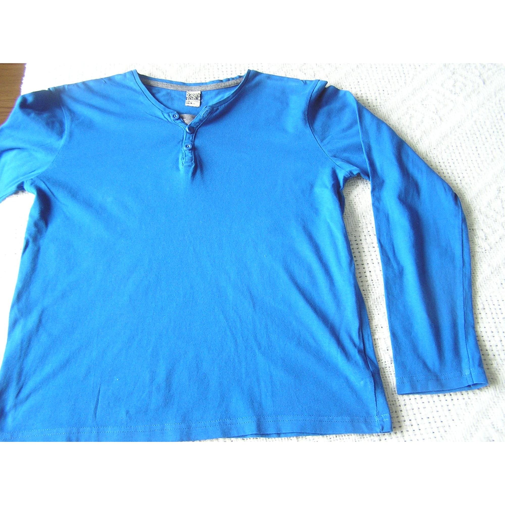 Tee-shirt TAPE À L'OEIL Bleu, bleu marine, bleu turquoise