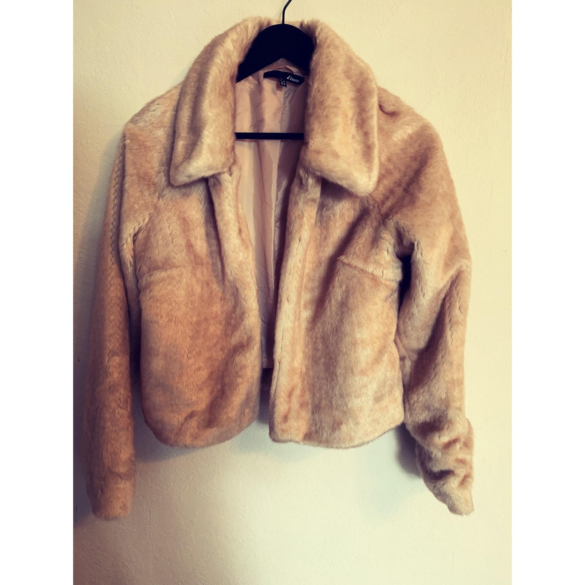 manteau fourrure femme etam