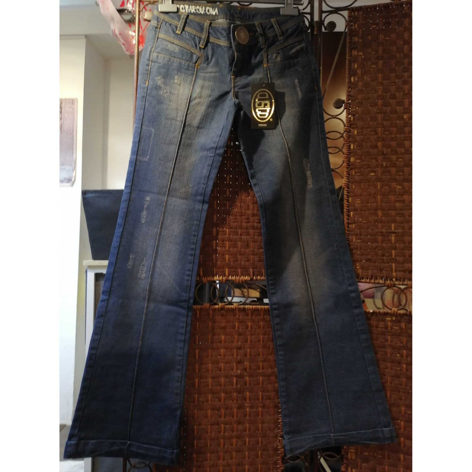 Jeans large, boyfriend CUSTO BARCELONA Bleu, bleu marine, bleu turquoise