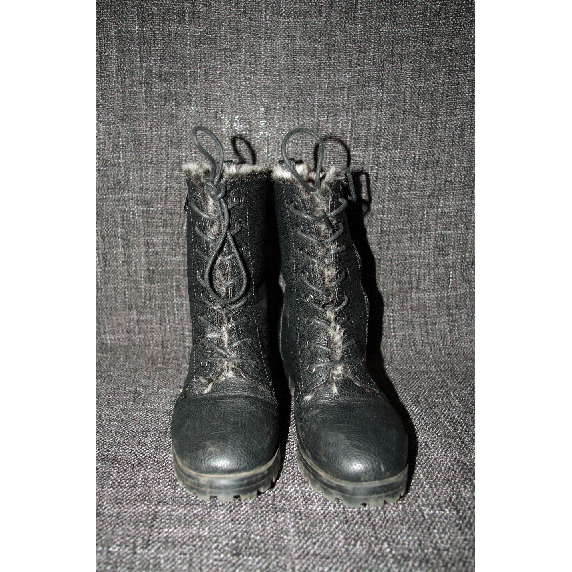 Bottines & low boots motards JUSTFAB Noir