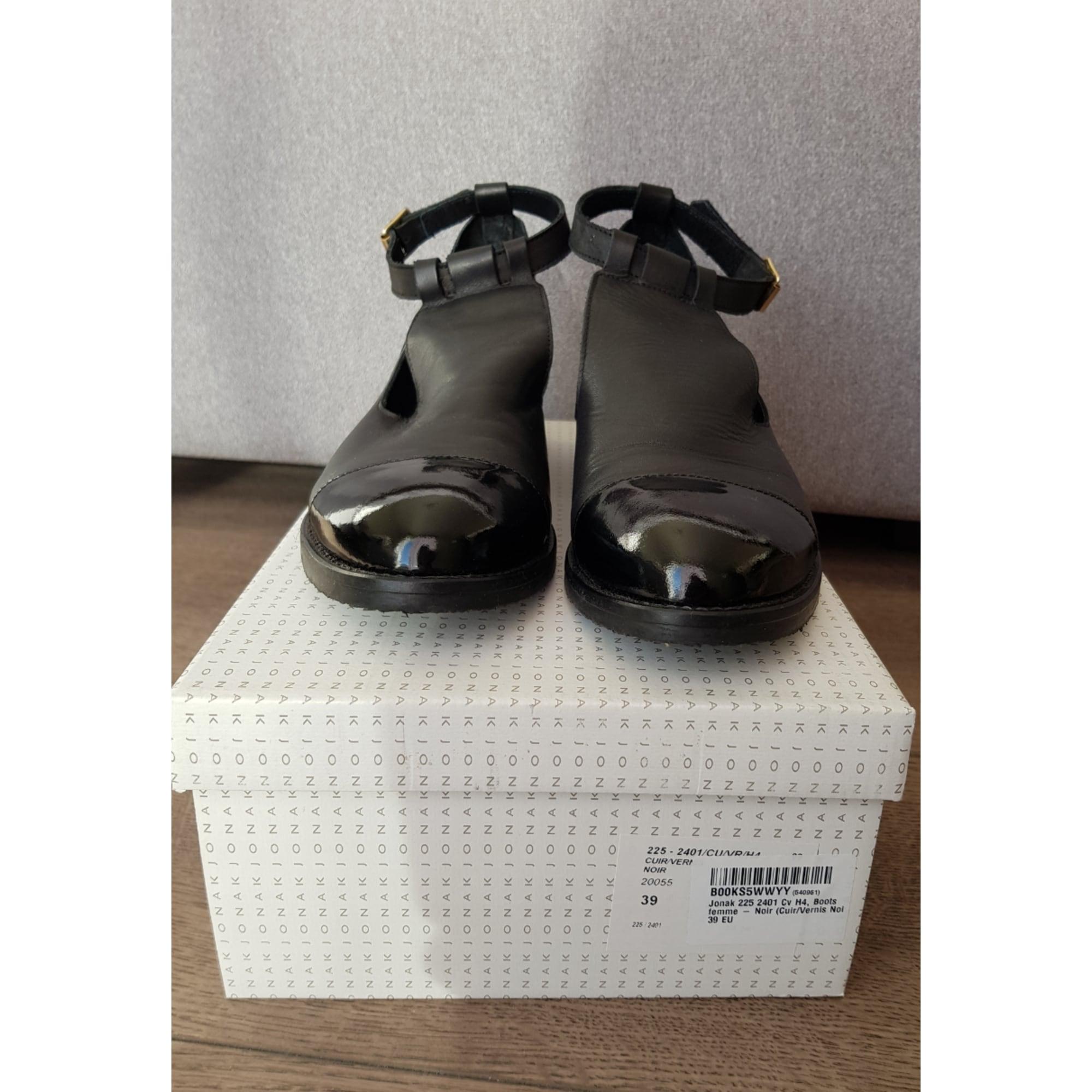 Bottines & low boots plates JONAK 39 noir vendu par Basko1