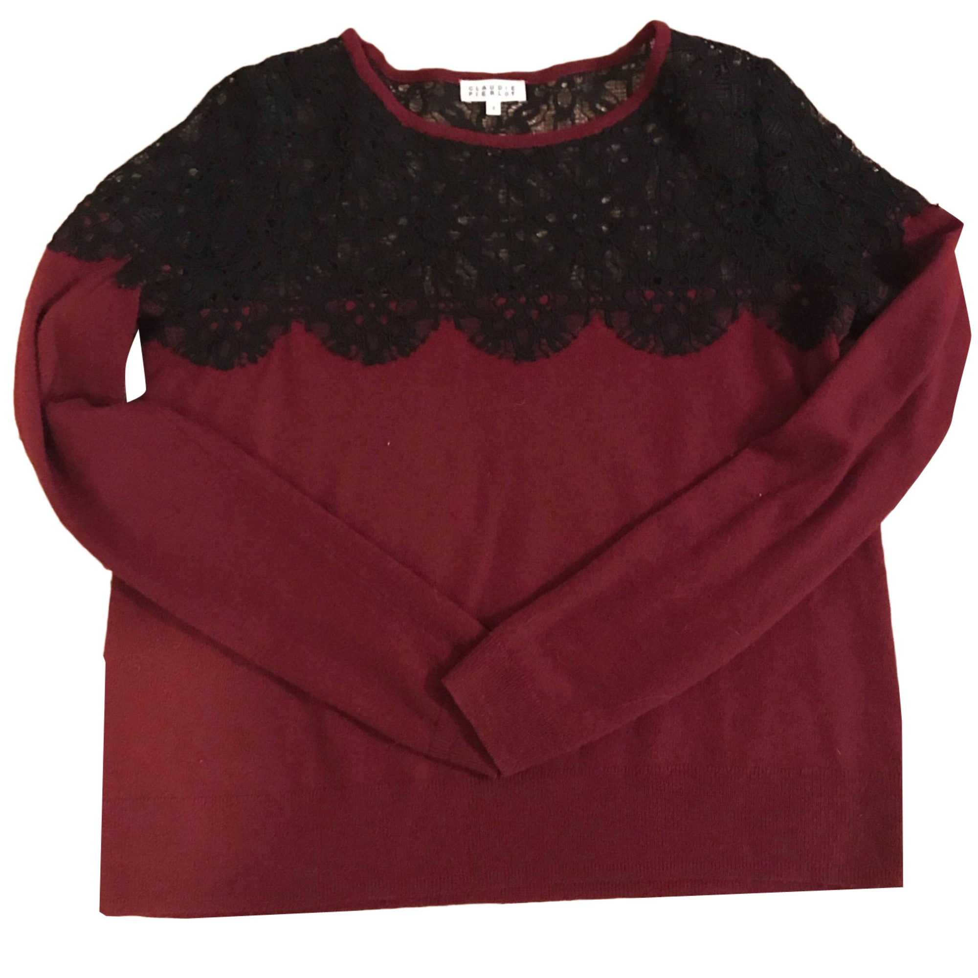 Pull CLAUDIE PIERLOT Rouge, bordeaux