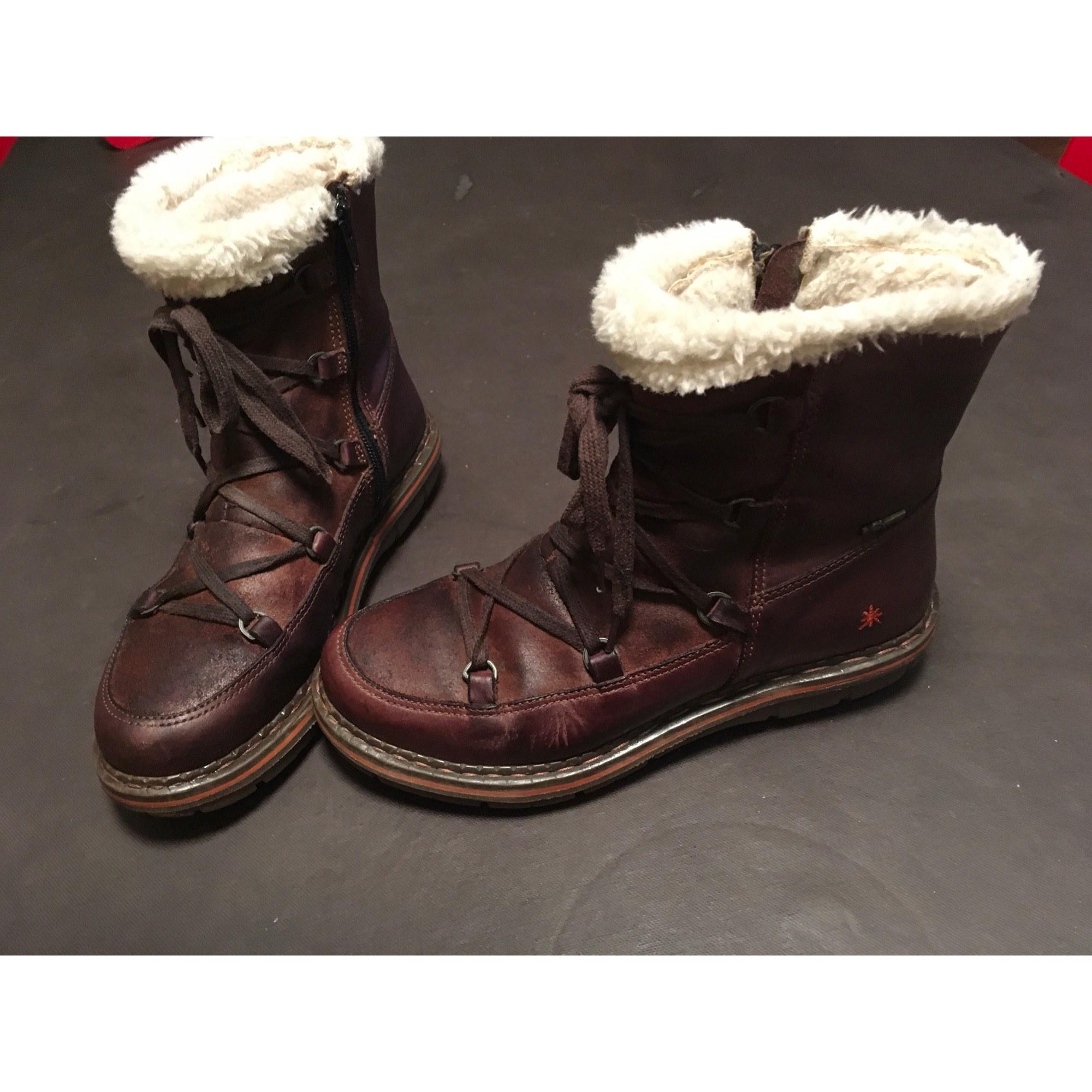 Bottines & low boots plates ART Marron