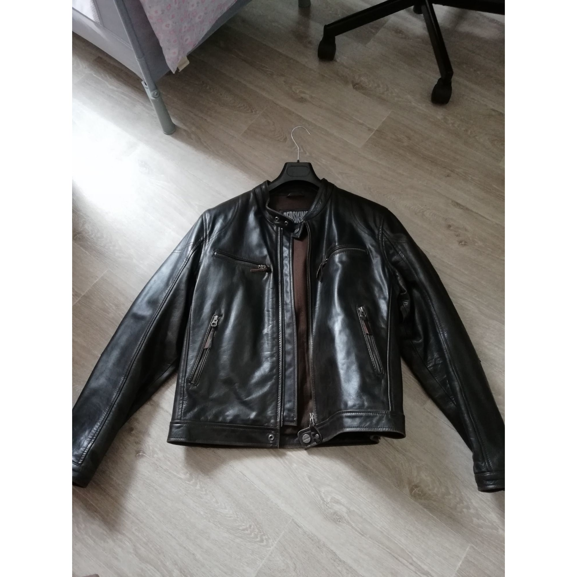 Blouson en cuir REDSKINS BLACK STONE 56 (XL) marron 8768090