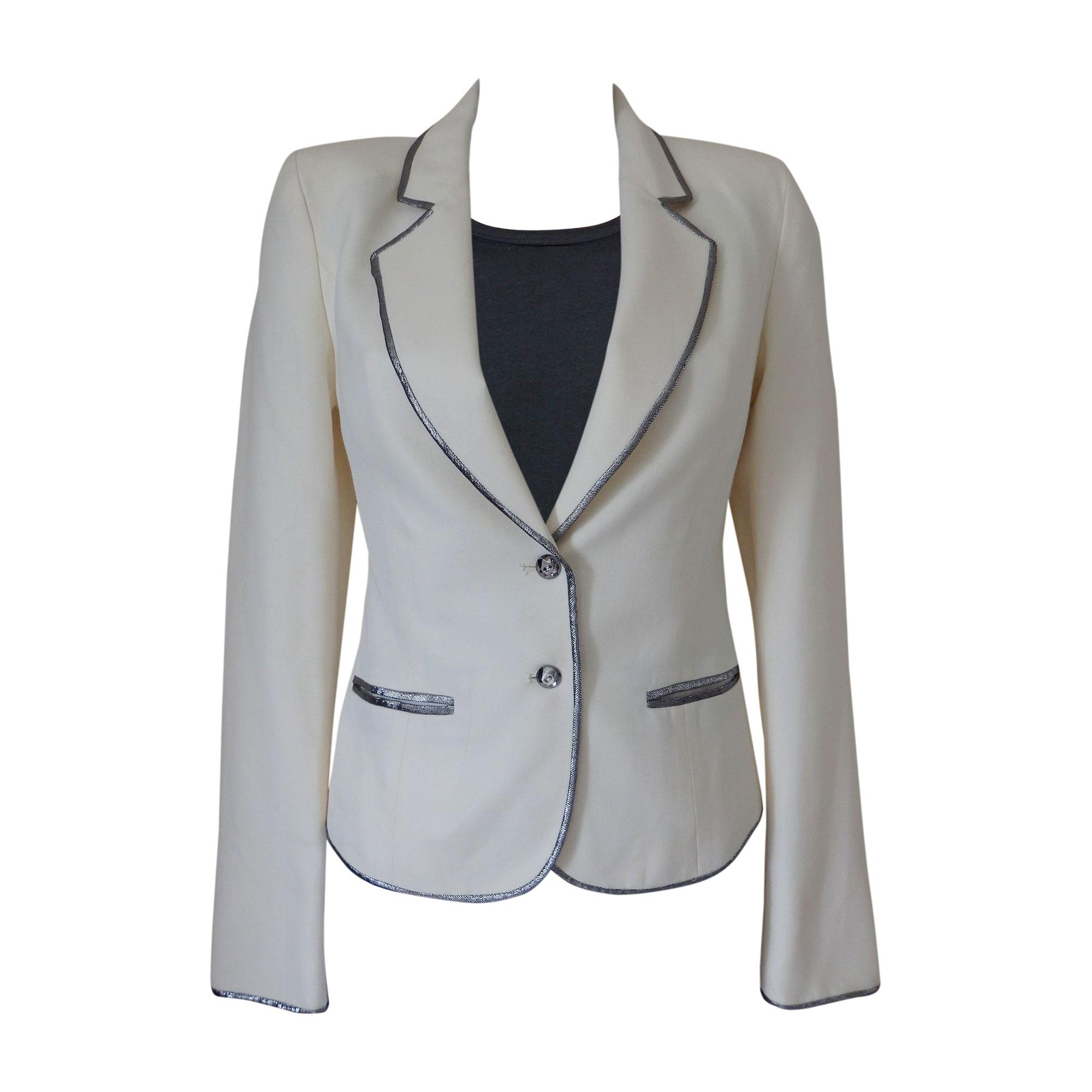 Blazer, veste tailleur AZZARO Blanc, blanc cassé, écru