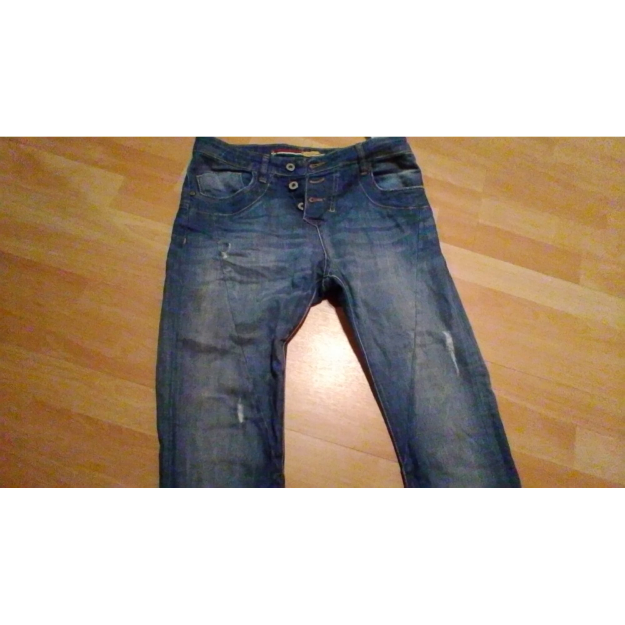 Pantalon droit PLEASE Bleu, bleu marine, bleu turquoise