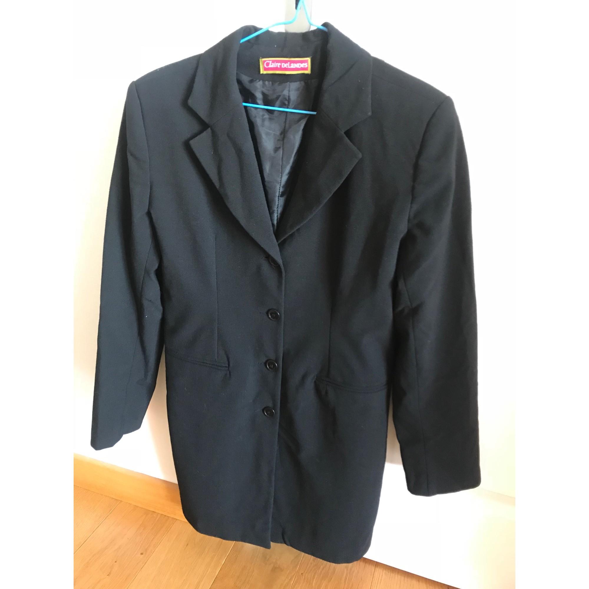 Blazer, veste tailleur CLAIRE DELANDES Noir