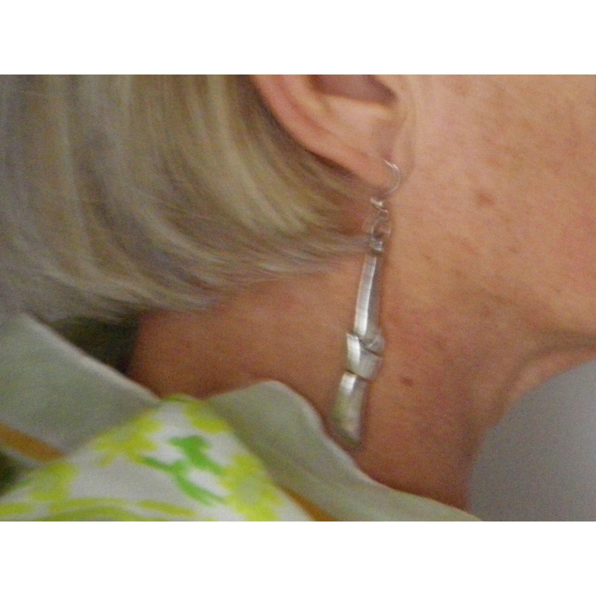 Boucles d'oreille UBU Argenté, acier