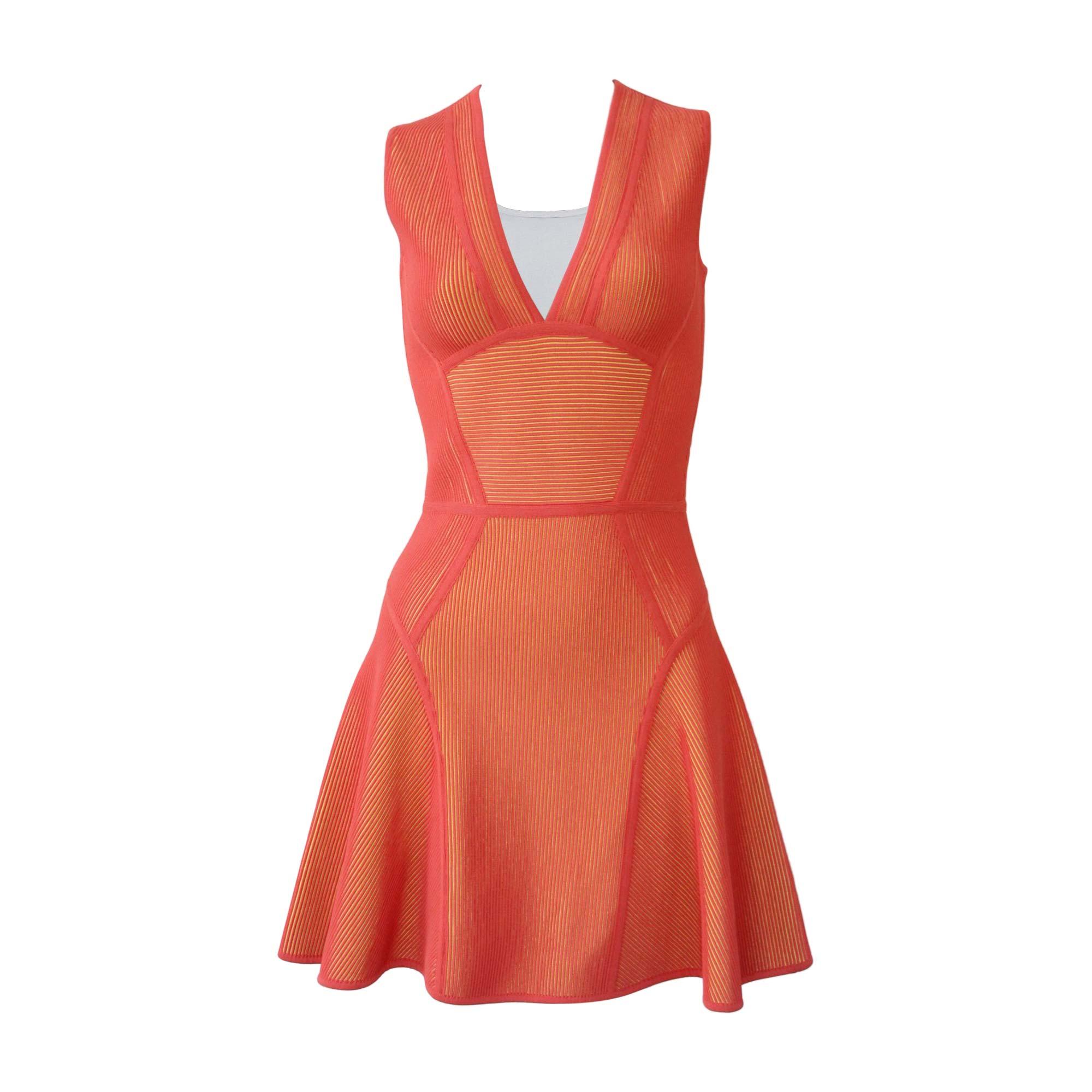 Robe Courte Elie Saab 38 M T2 Orange 8815511